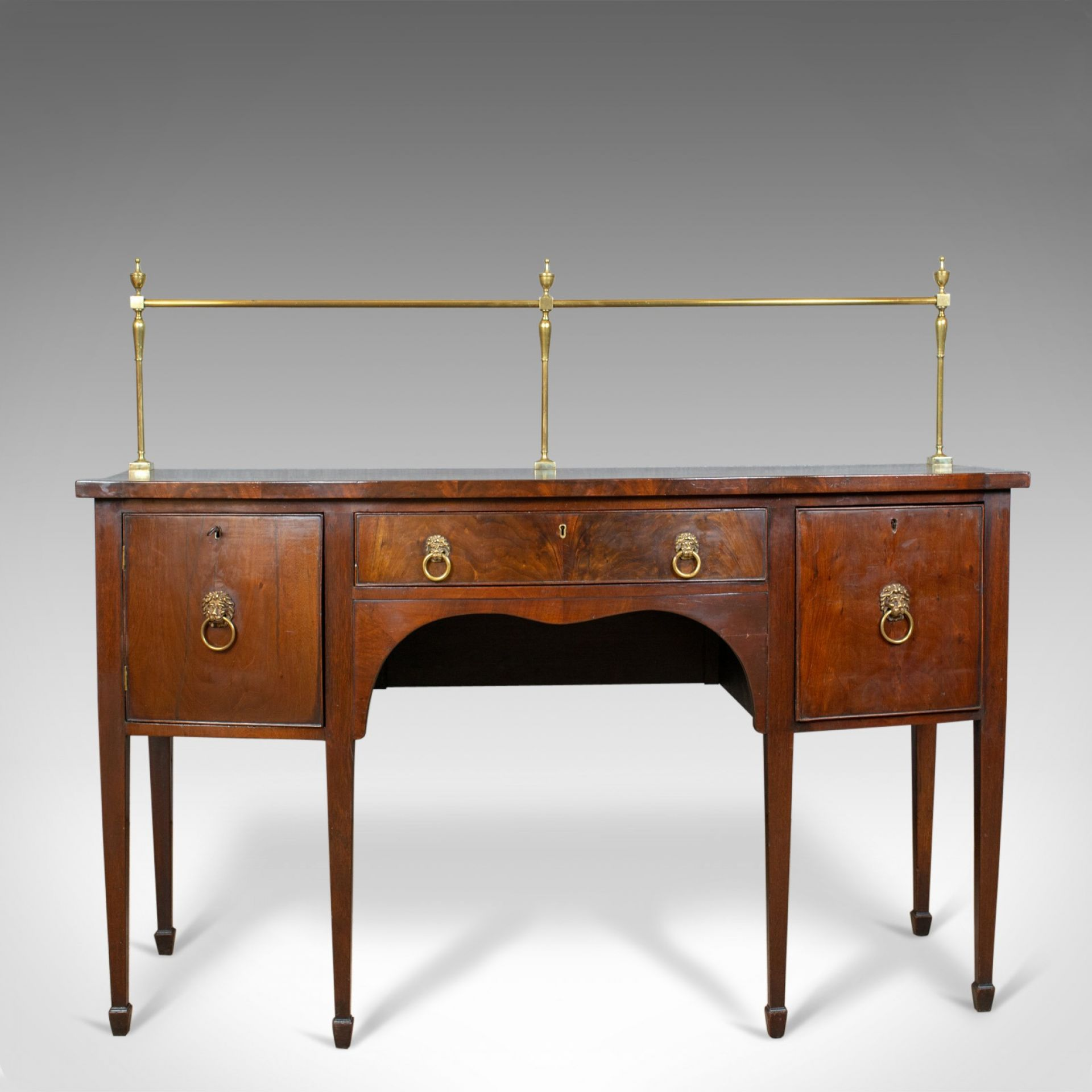 Antique Sideboard, English, Regency, Server, Mahogany, 19th Century, Circa 1830
