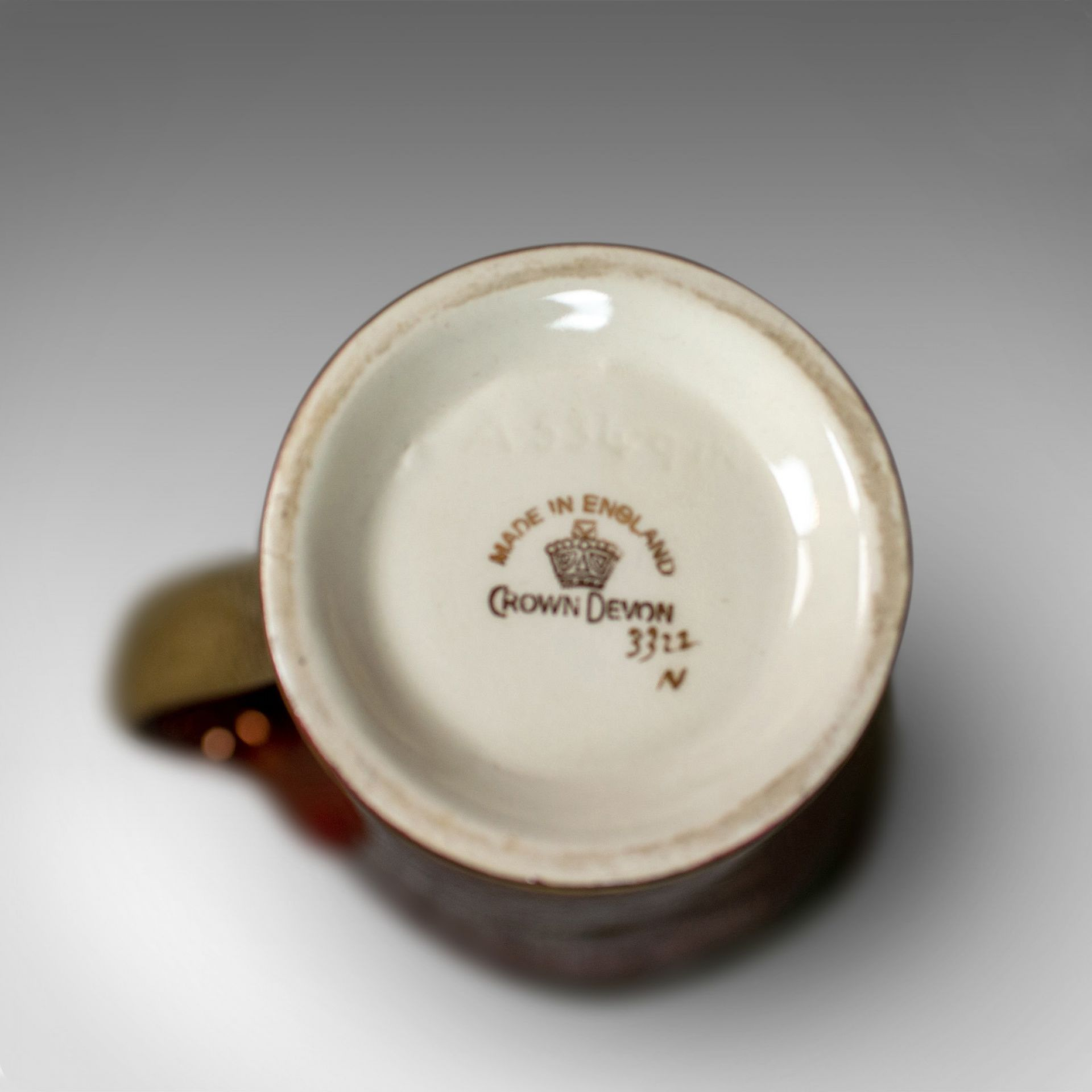 Vintage, Crown Devon Ewer, Decorative Jug, 3322, Rouge, Gold, Pearlescent C20th