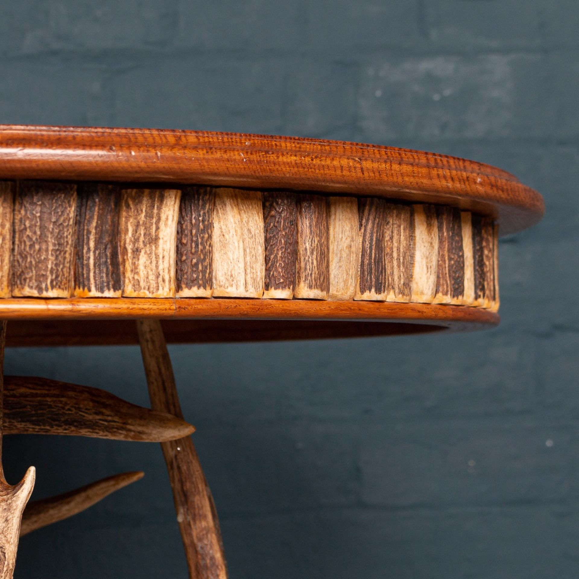 UNUSUAL 20thC ANTLER HORN TABLE BY ANTHONY REDMILE c.1970
