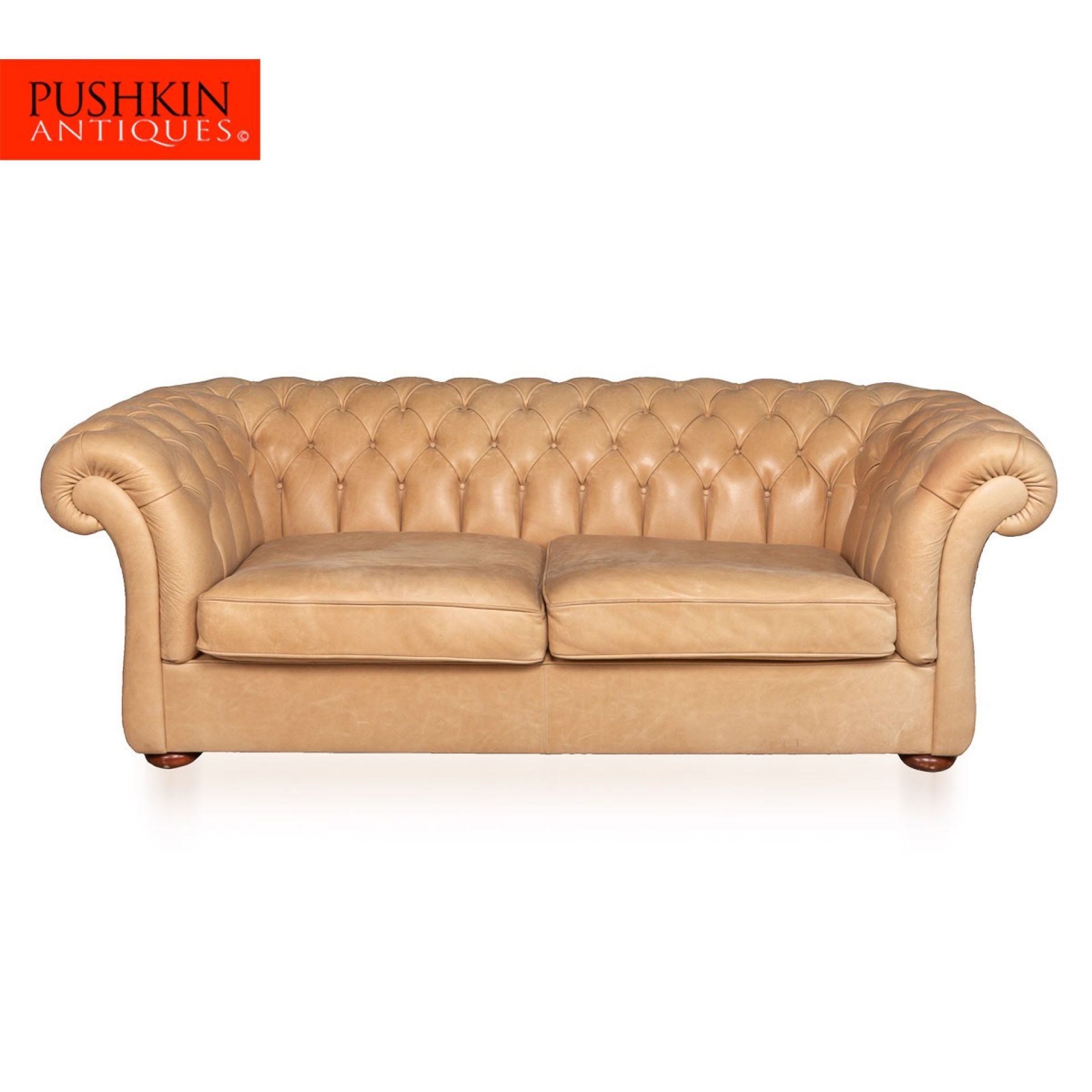 MODERN 21stC HANDMADE CHESTERFIELD SOFA IN WHITE LEATHER