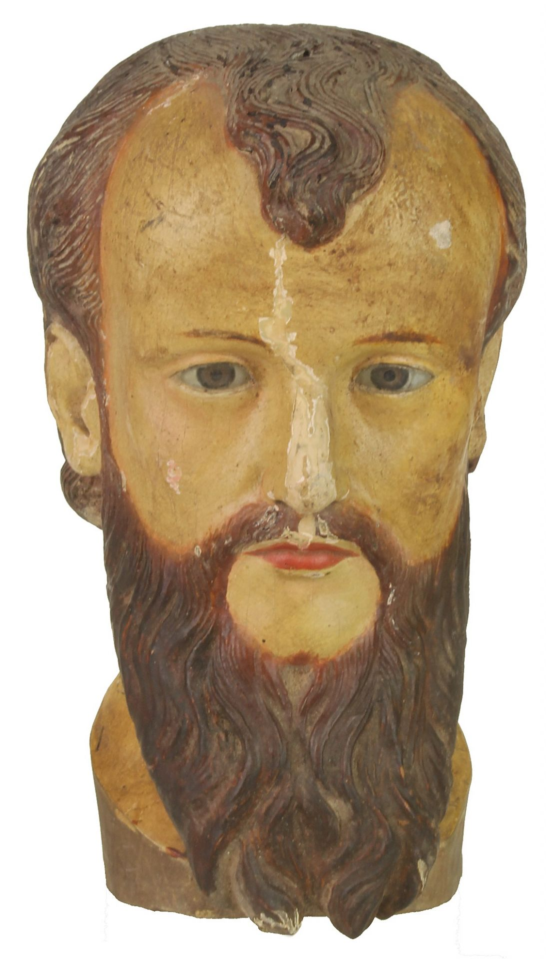 Antique Catholic Saint Figure Head - Viet Nam