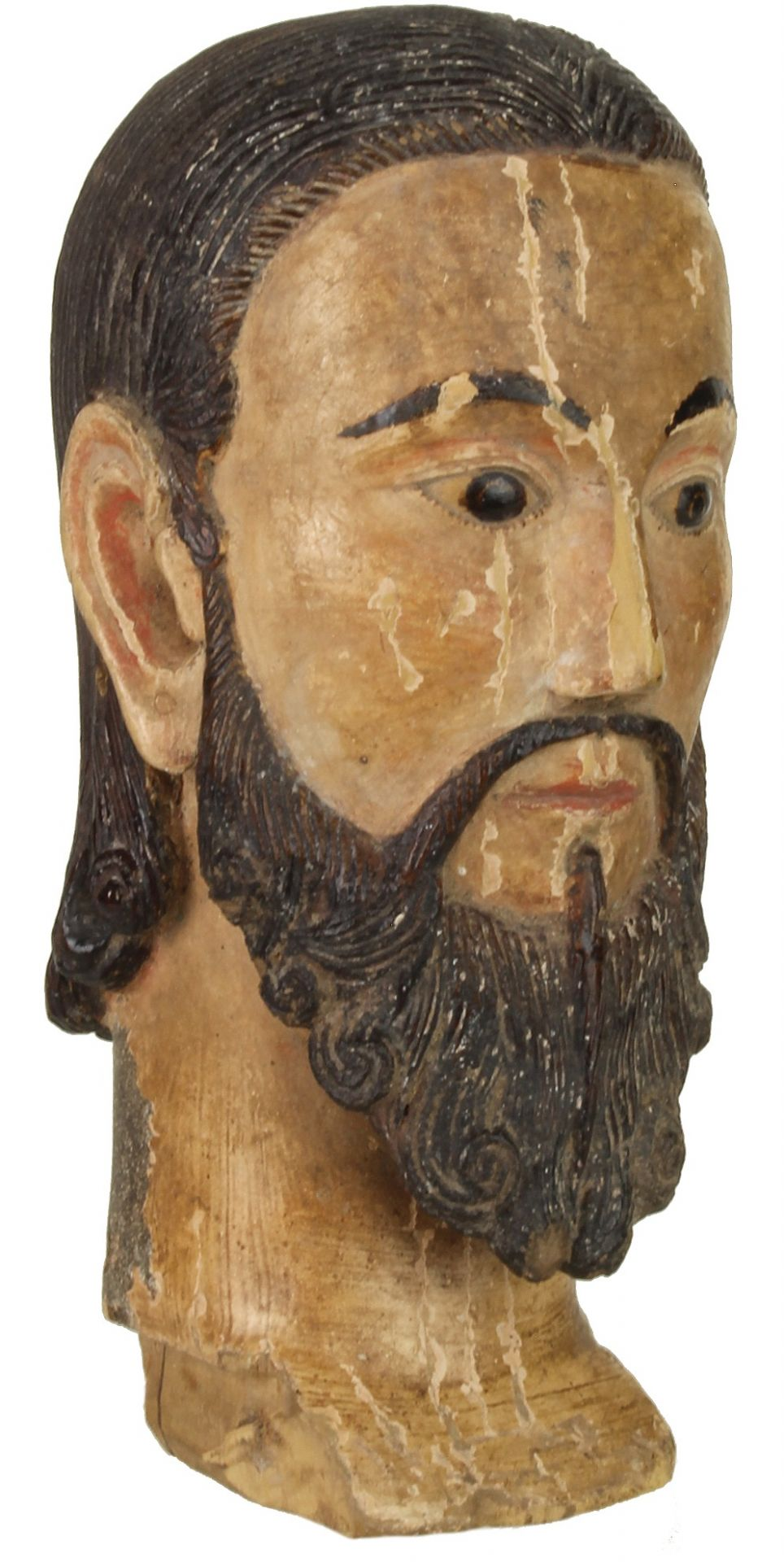 Antique Catholic Saint Figure Head - Viet Nam