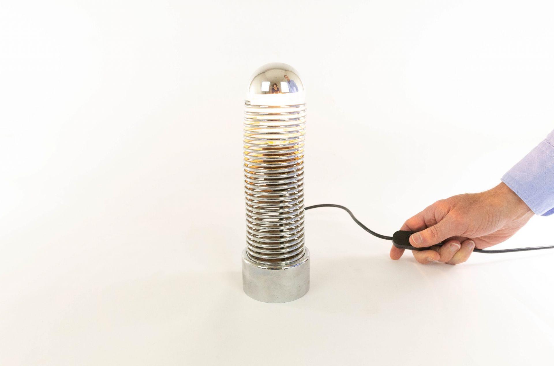 Jo-Jo Chrome table lamp by Heinz Brenker for Harvey Guzzini, 1971