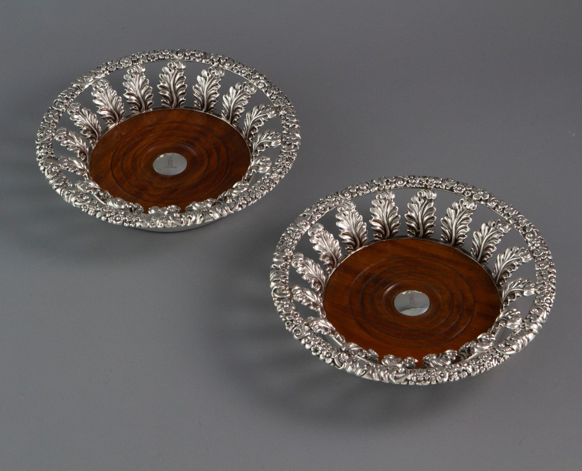 A Very Fine Pair of George III Silver Wine Coasters  Sheffield 1818