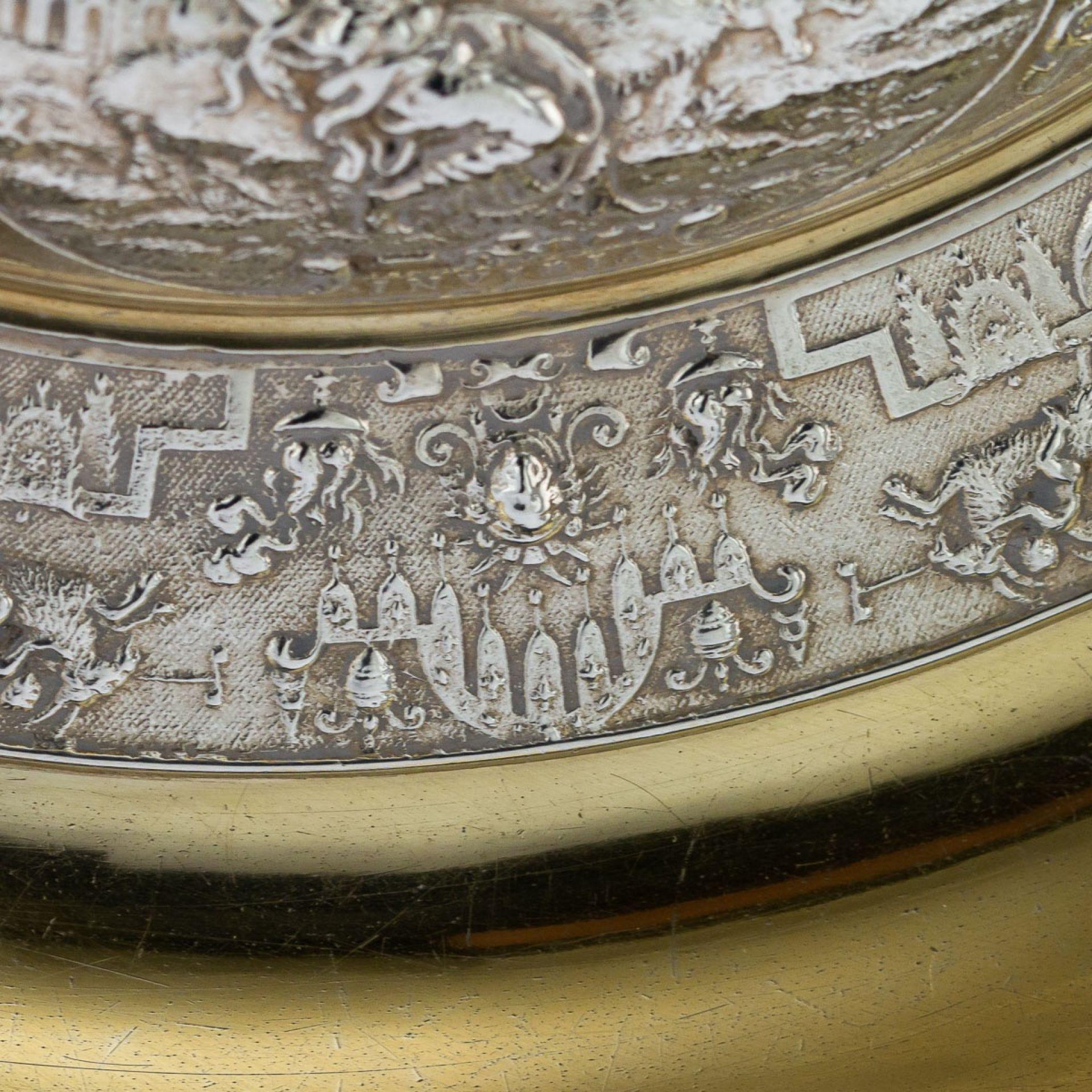 ANTIQUE 19thC VICTORIAN SOLID SILVER SIDEBOARD DISH, ELKINGTON c.1874