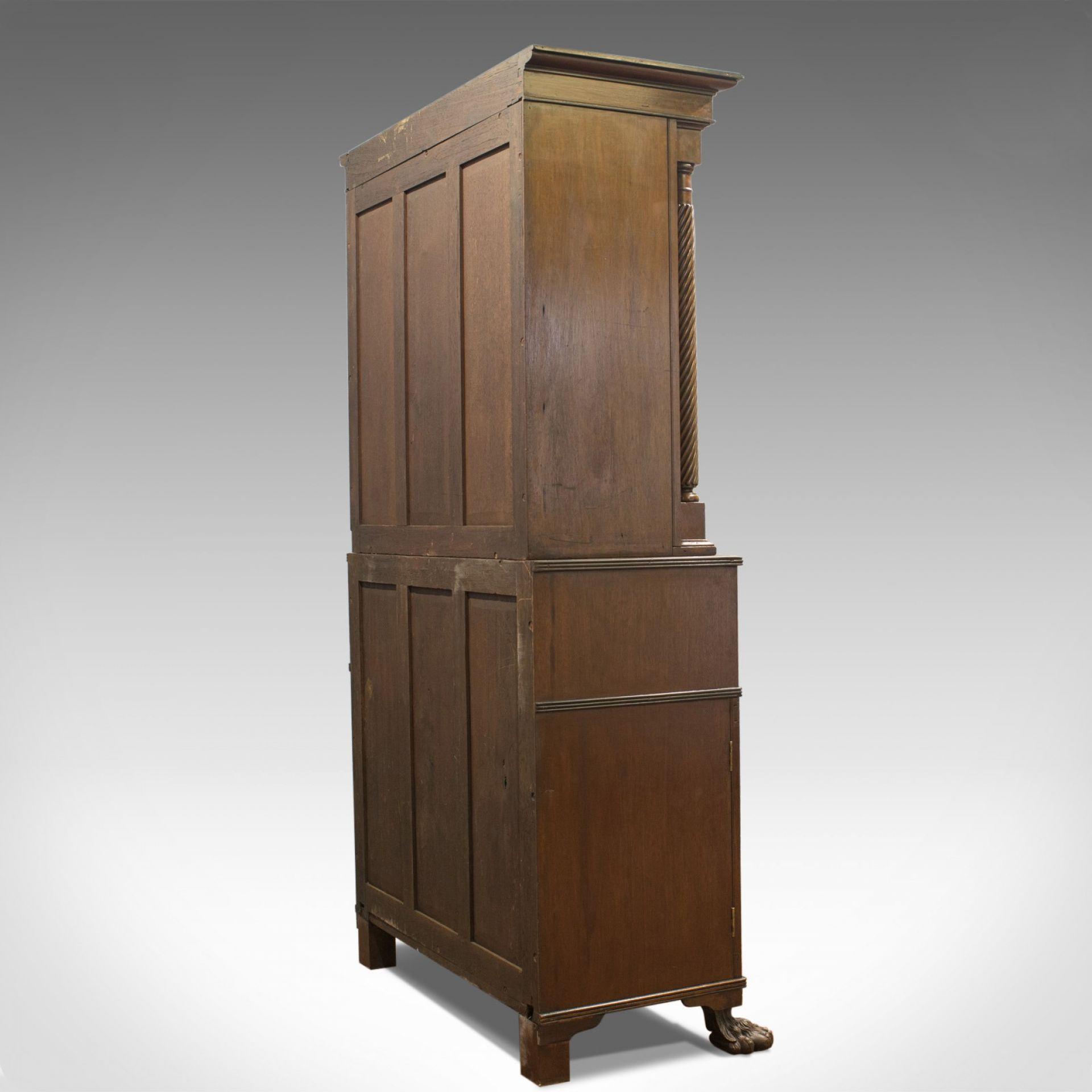 Antique Secretaire Bookcase, Scottish, Mahogany, Cabinet, Victorian, Circa 1880