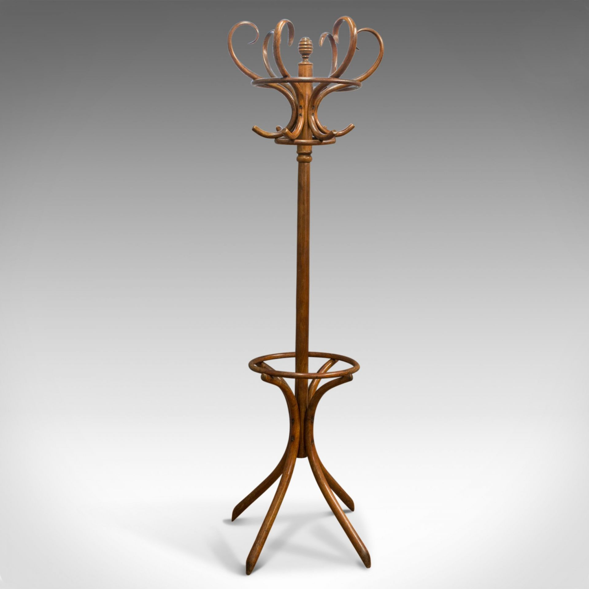 Antique Bentwood Coat Rack, Hall Stand, Thonet, Café, Coat Stick Umbrella, c1910