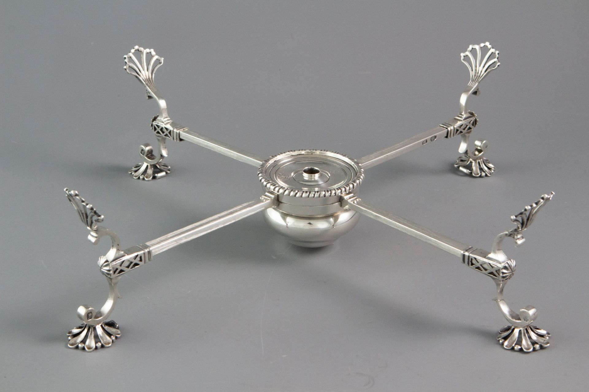 An Early George III Silver Dish Cross, London 1766 by Samuel Herbert