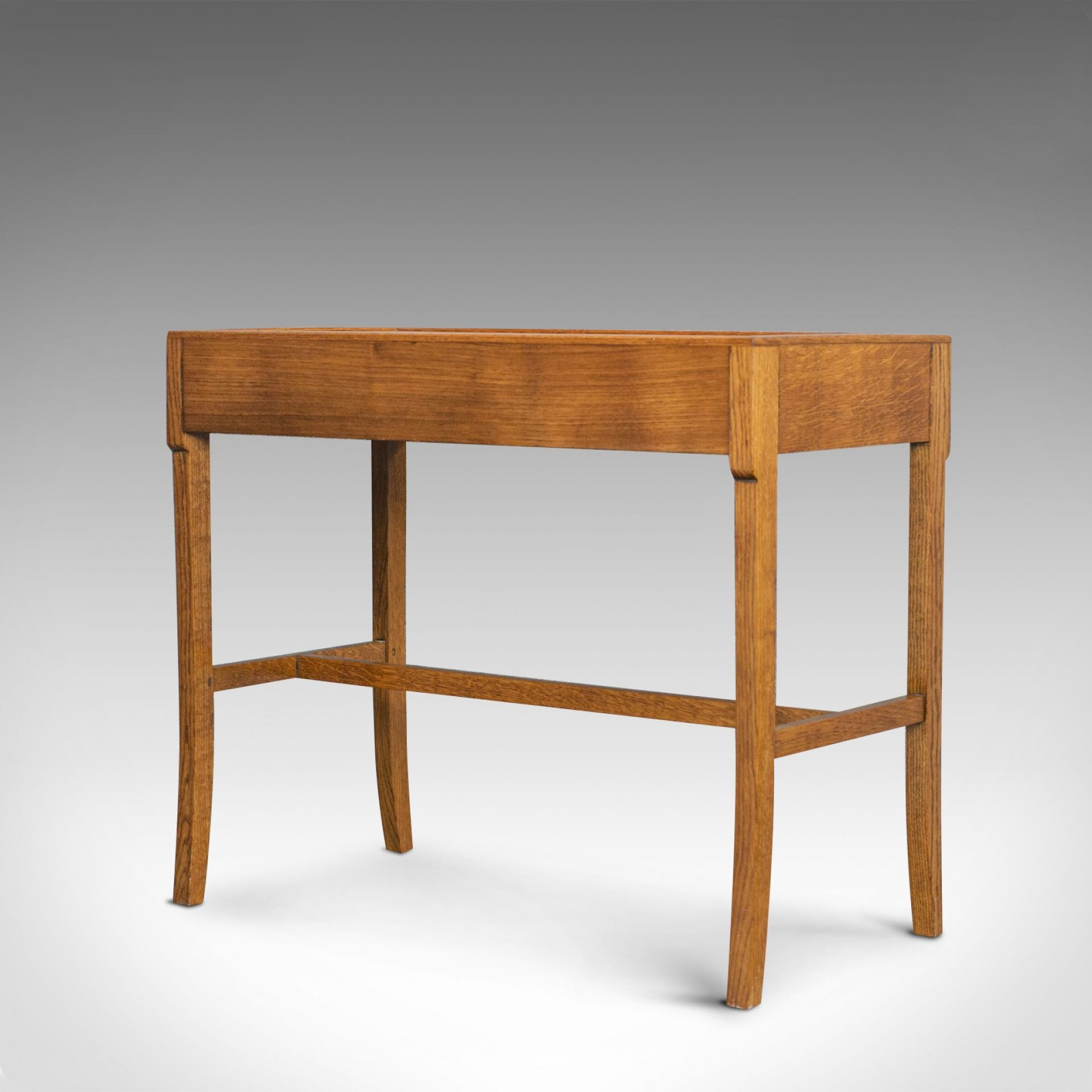 Vintage Writing Desk, Side Table, Oak, Hall, Console, Arts and Crafts, C20th