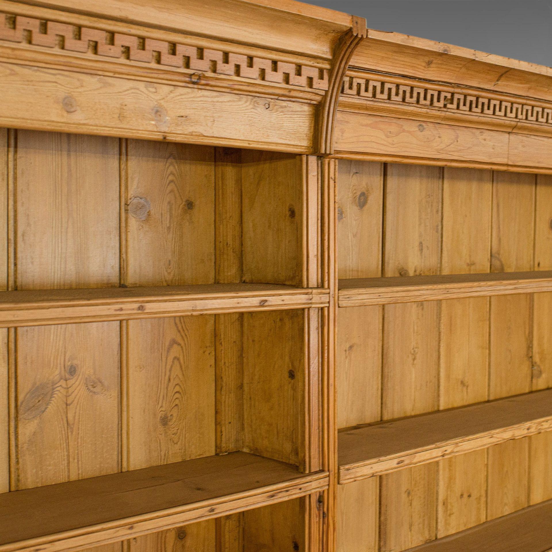 Very Large, Antique Dresser, Victorian, Pine, Kitchen Cabinet, Bookcase, c.1850