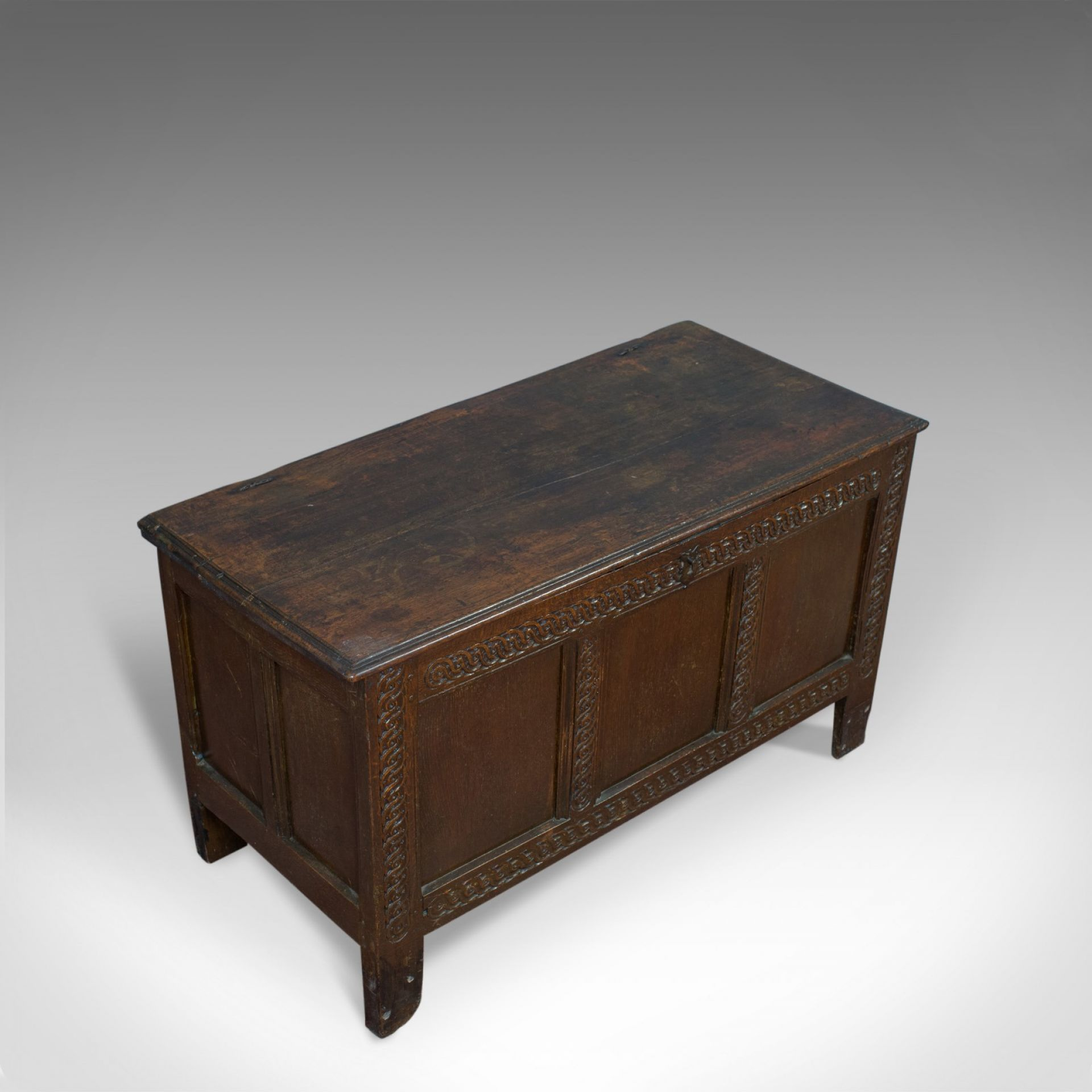 Antique Coffer, Large, English Oak, Joined Chest, Charles II Trunk, Circa 1685