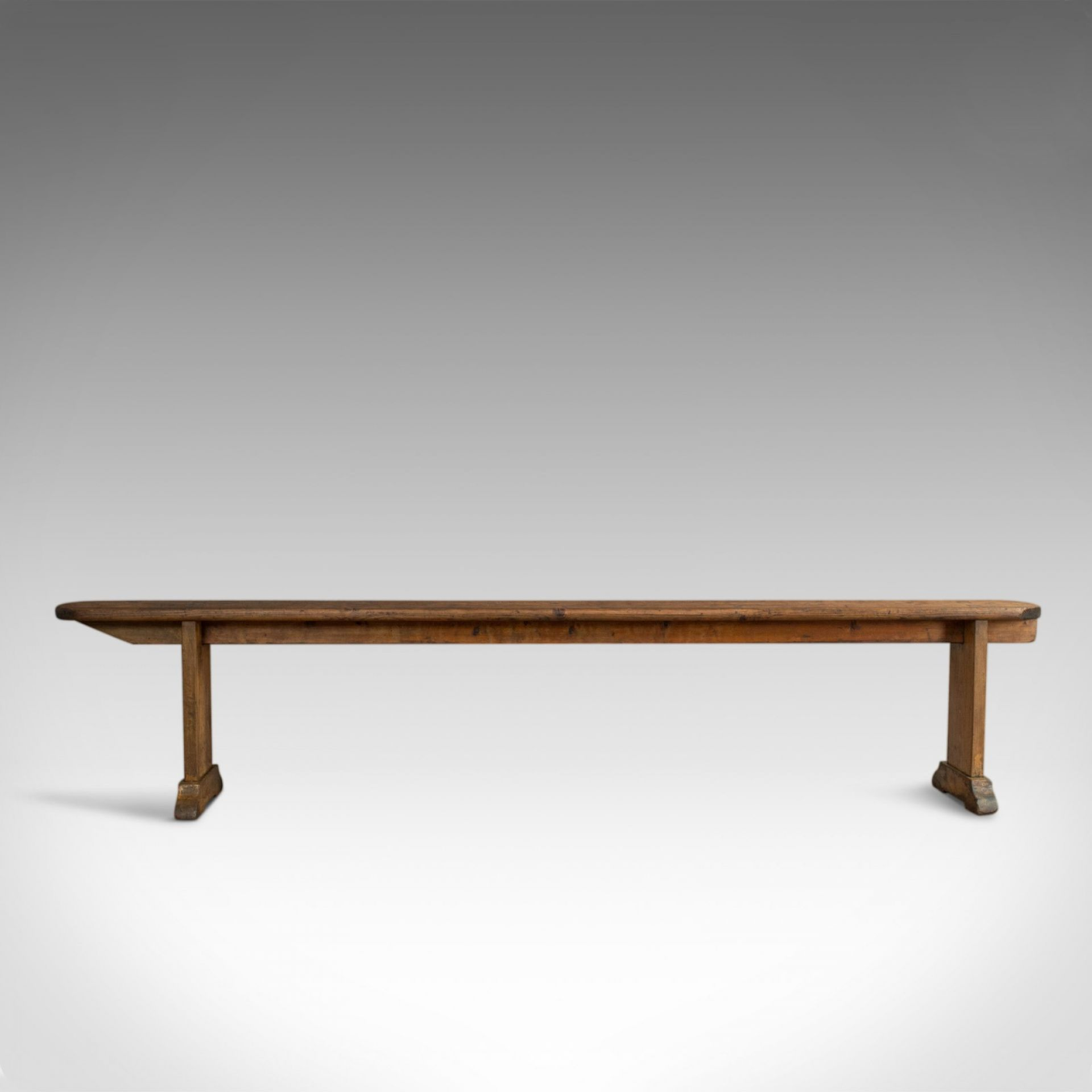 Long Antique Bench, 7 Foot 4 Inch, Victorian, Kitchen, Pew, Seat, Circa 1900