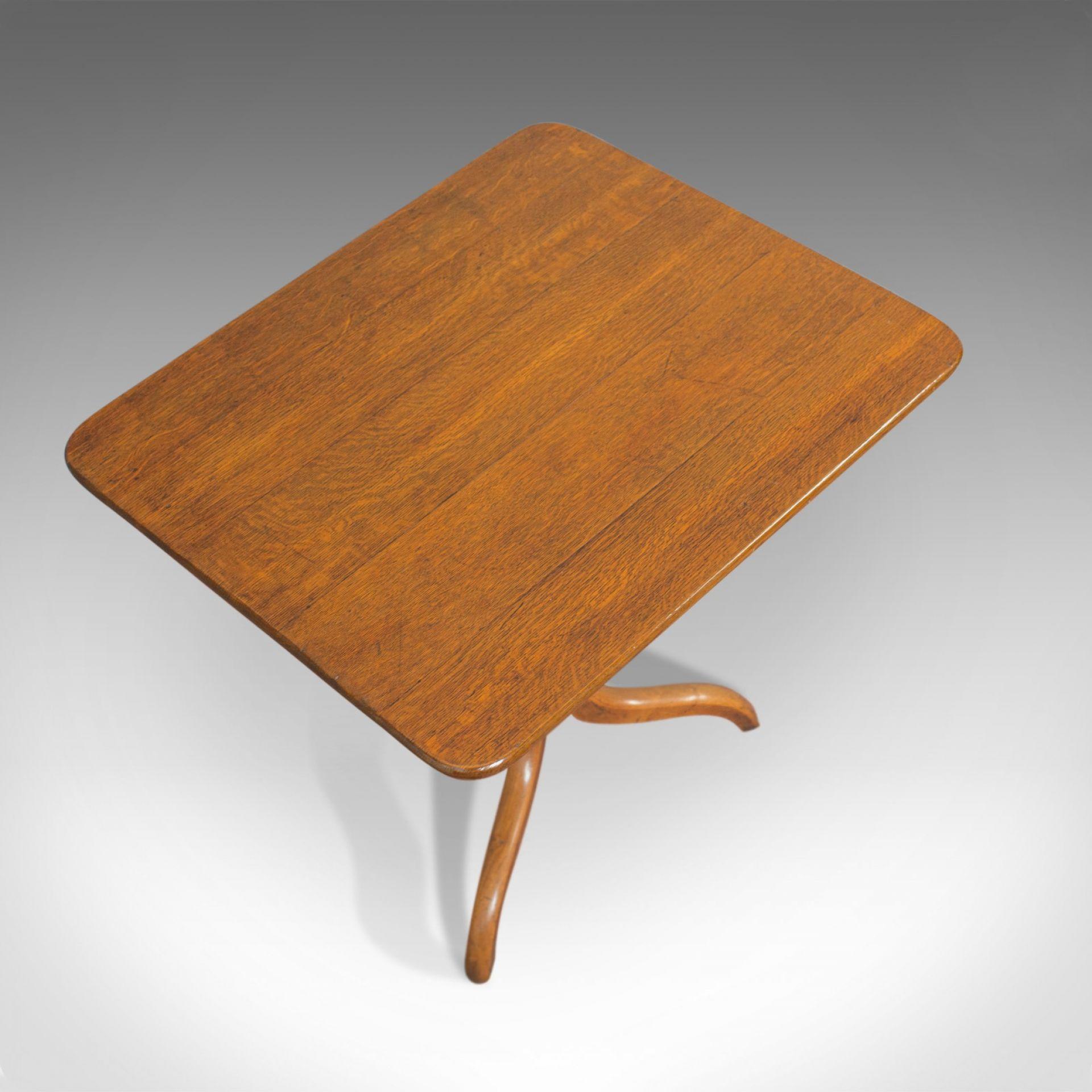 Antique Tripod Table, English, Regency, Tilt-Top, Oak, Side, Circa 1830
