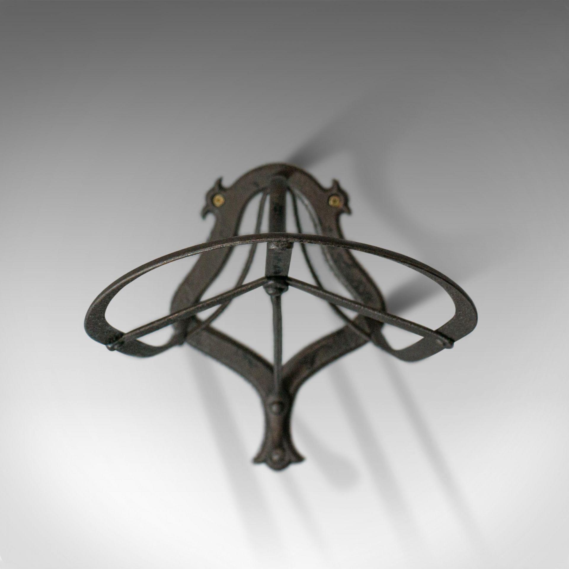 Antique Saddle Rack, English, Victorian, Wall Mounted, Forged Iron, Circa 1900