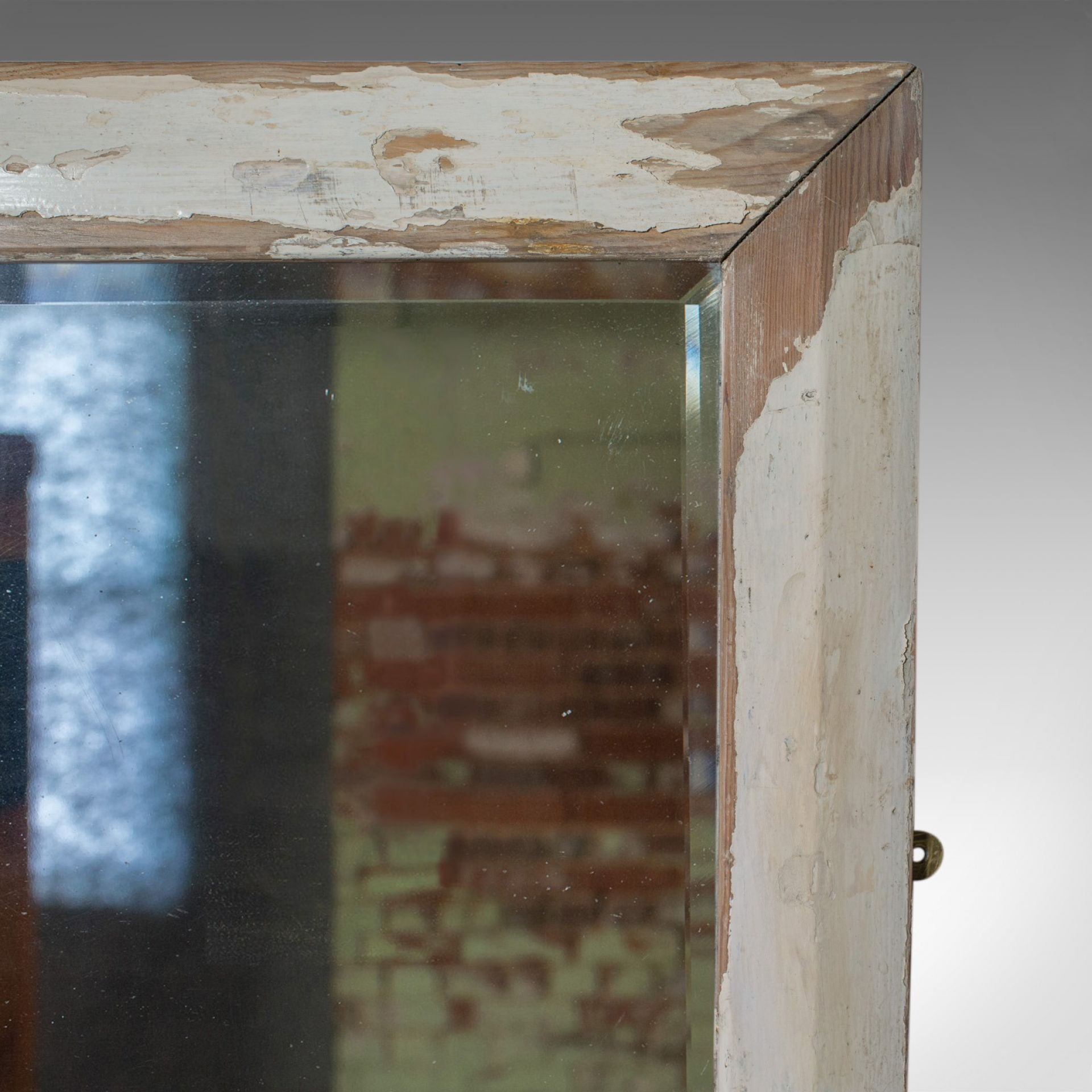 Large Antique Wall Mirror, English, Victorian, Painted, Pine, Circa 1900