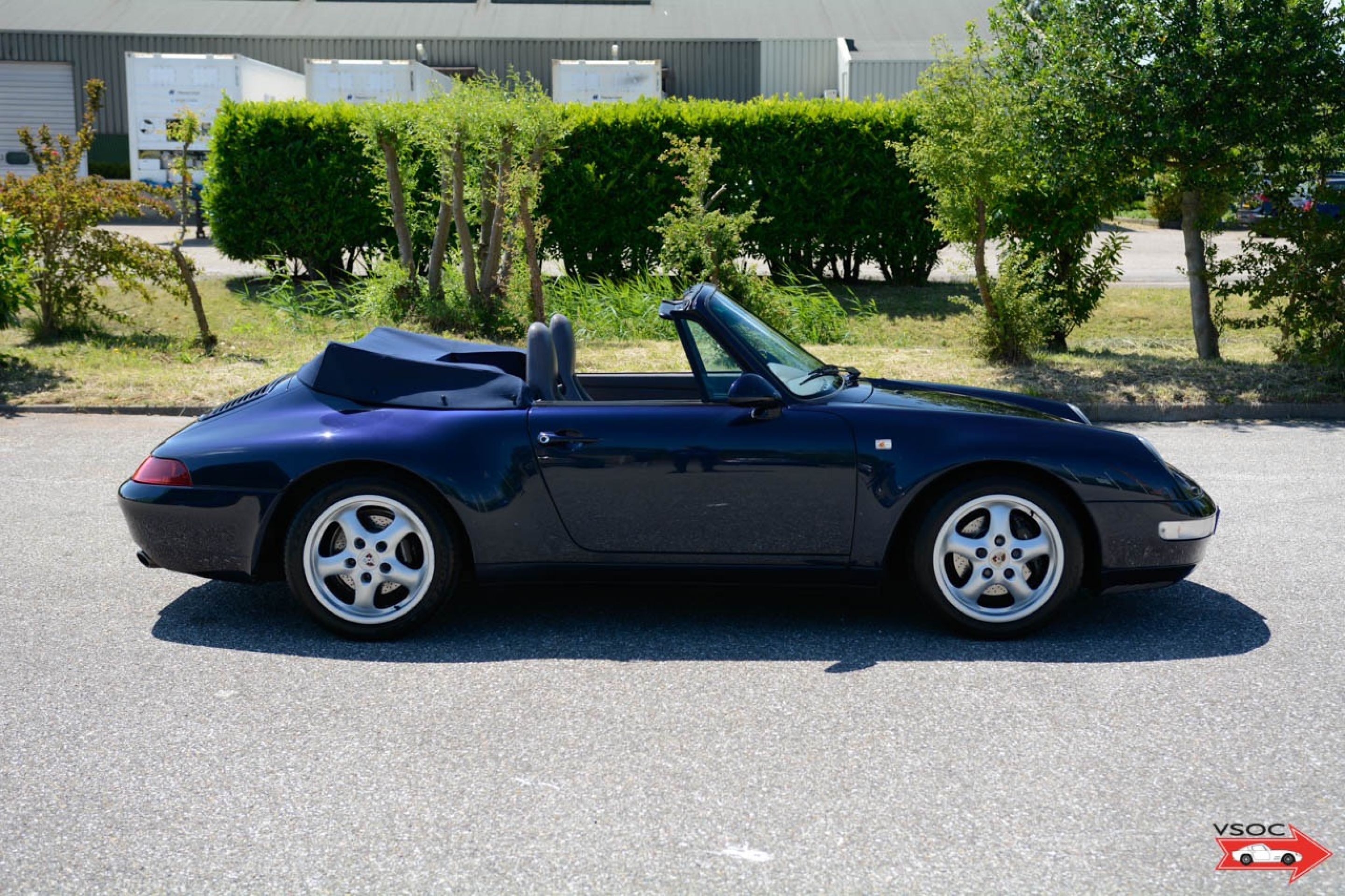 Porsche 993 Carrera 2 Cabriolet Night Blue Very nice low mileage example 94k km