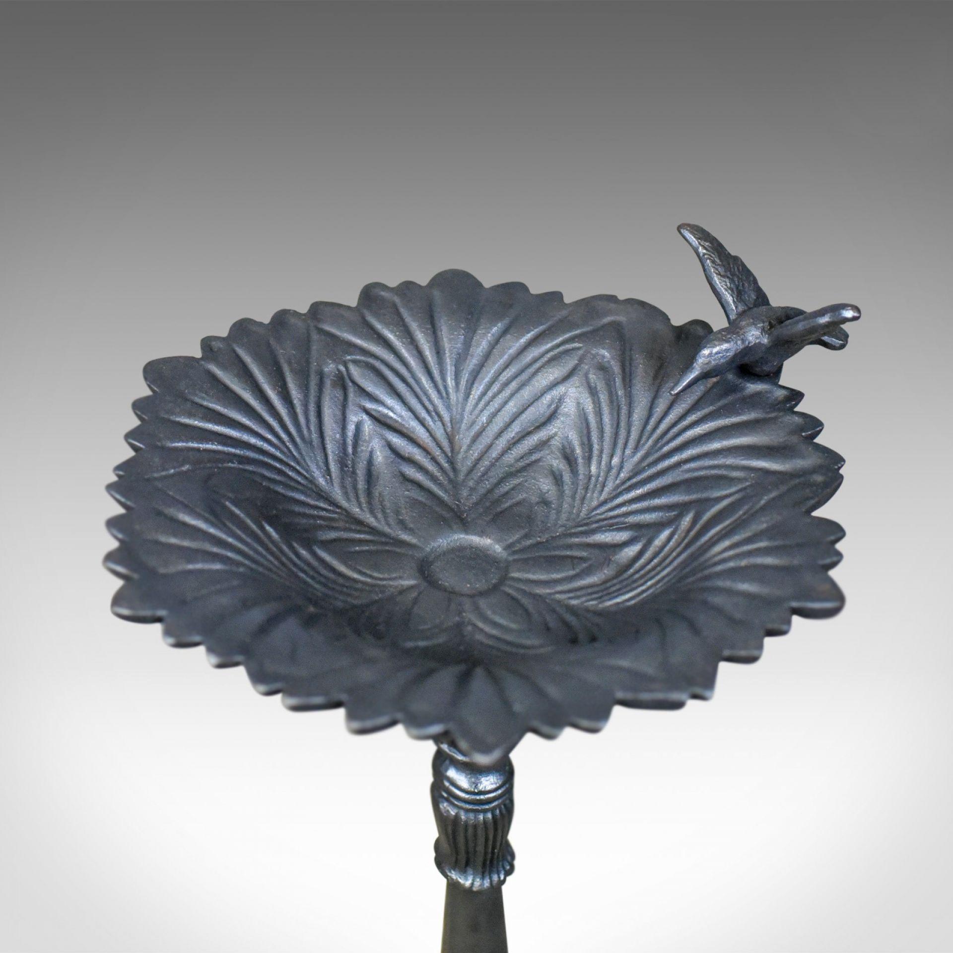 Vintage Birdbath, English, Cast Iron, Feeder, Planter, late 20th Century