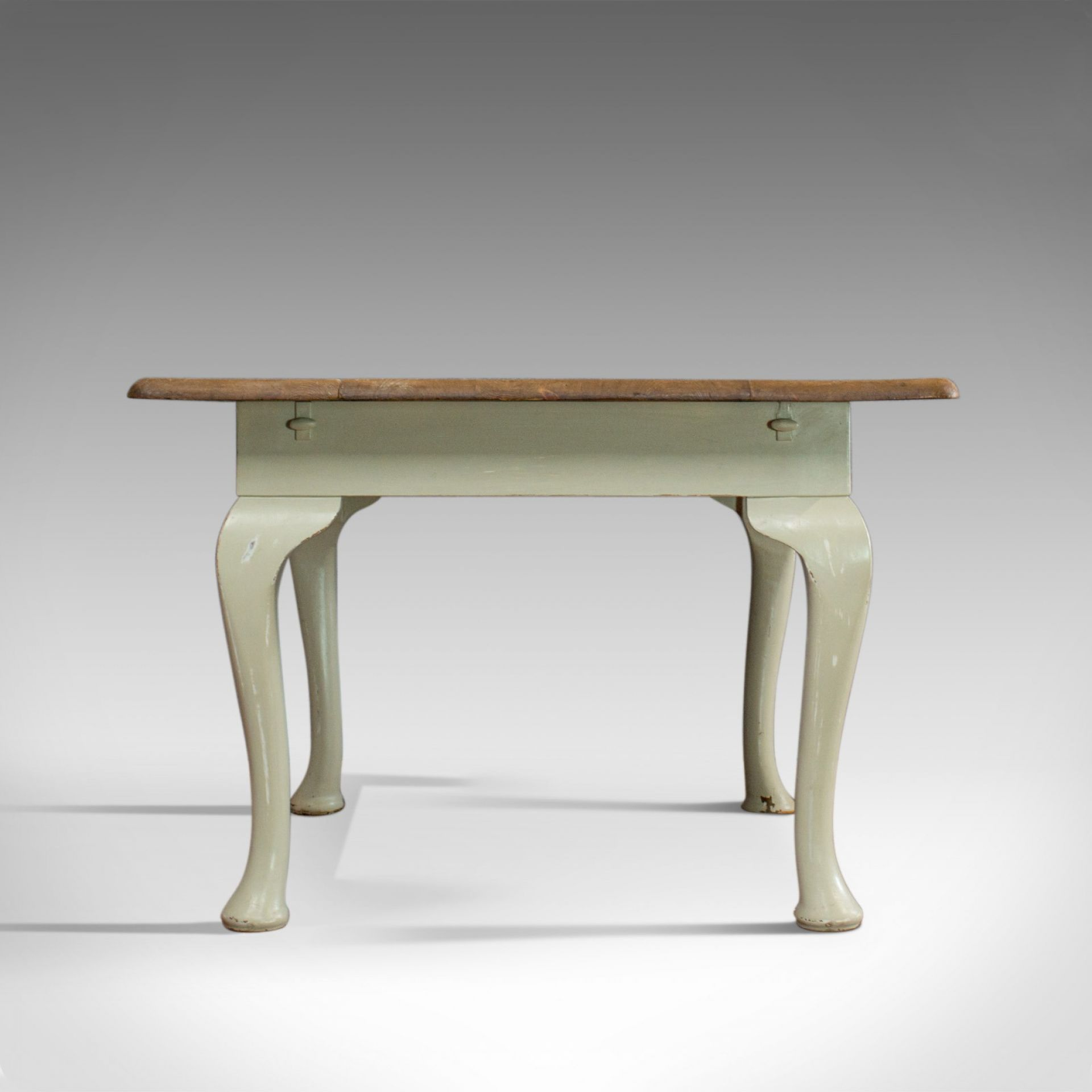Antique Dining Table, Square, Pine, Mahogany, Country Kitchen, Seats Four c.1900