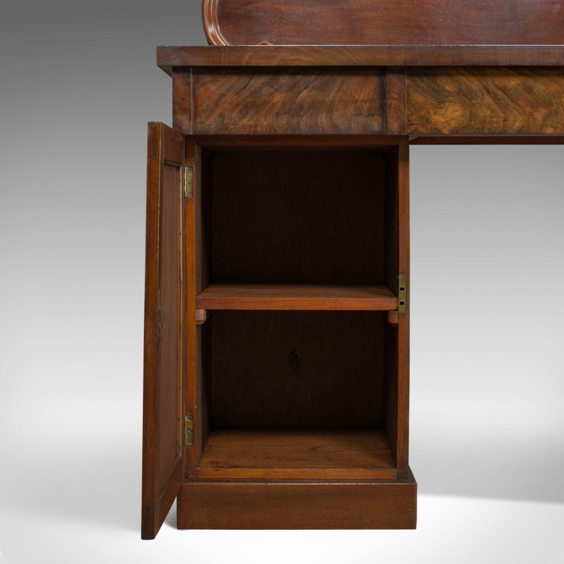 Antique Pedestal Sideboard, English, Mahogany, Dresser, Victorian, Circa 1850