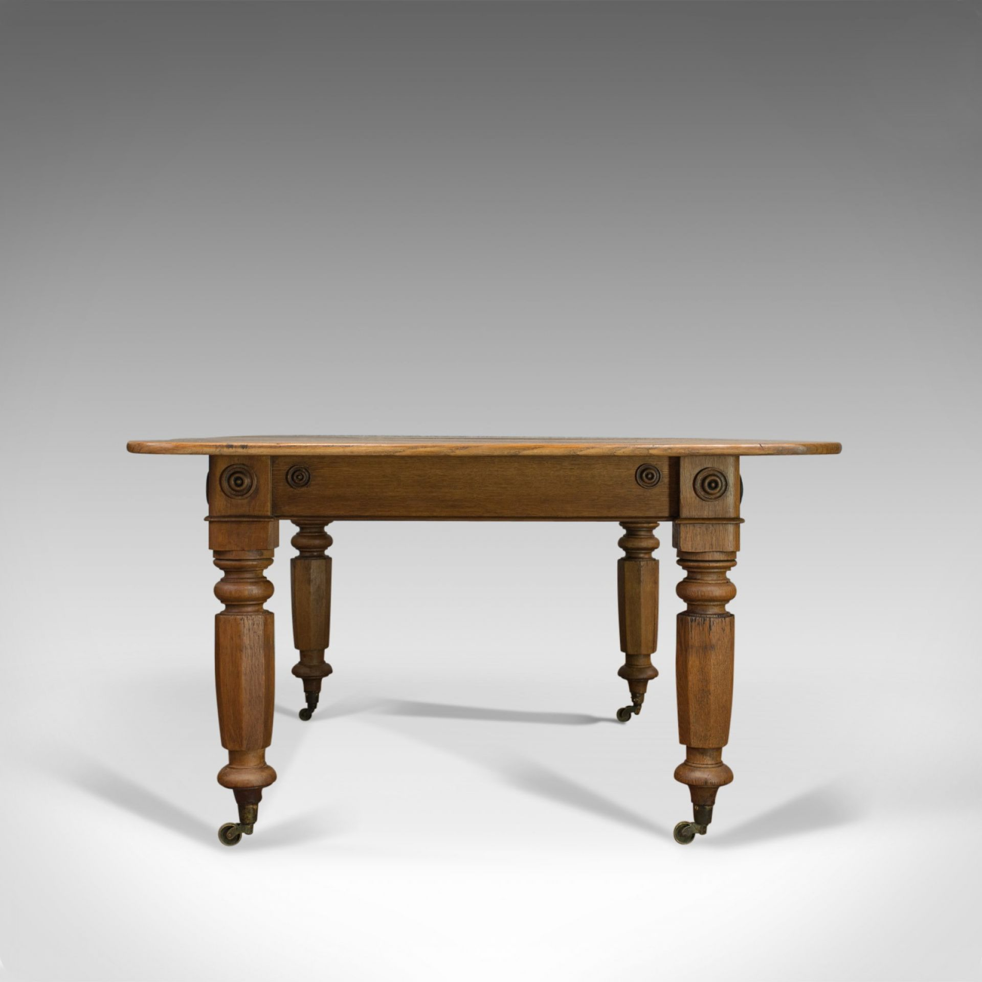 Antique Dining Table, English, Victorian, Oak, Country Kitchen, Seats Six, c1880