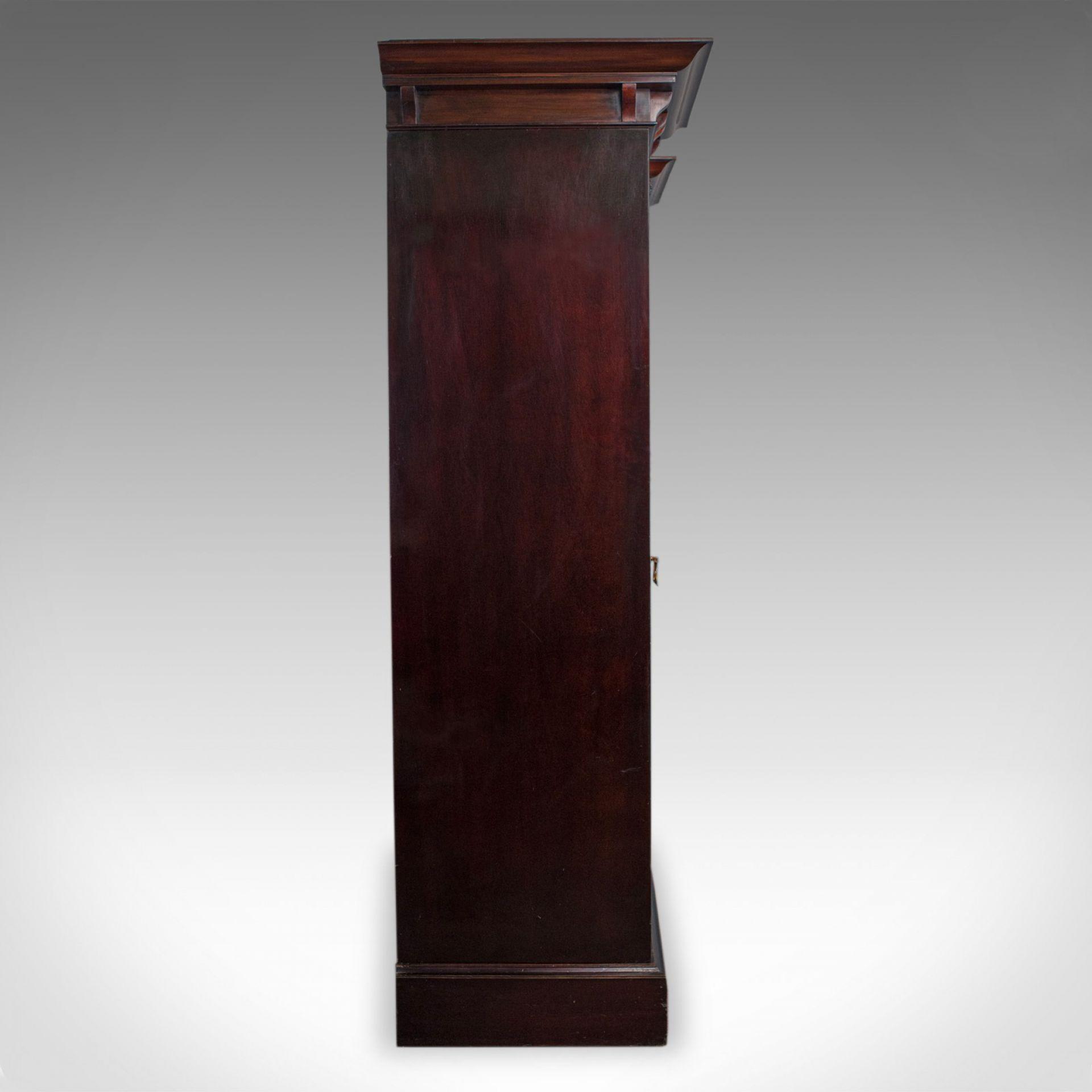 Antique Wardrobe, Maple and Co, English, Mahogany, Victorian, Art Nouveau C.1880