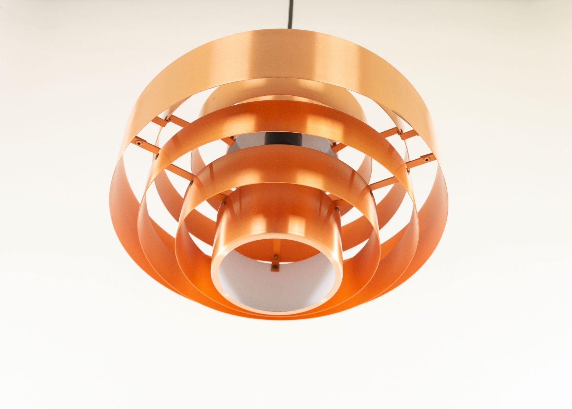 Copper Ultra pendant by Jo Hammerborg for Fog & Mørup, 1960s