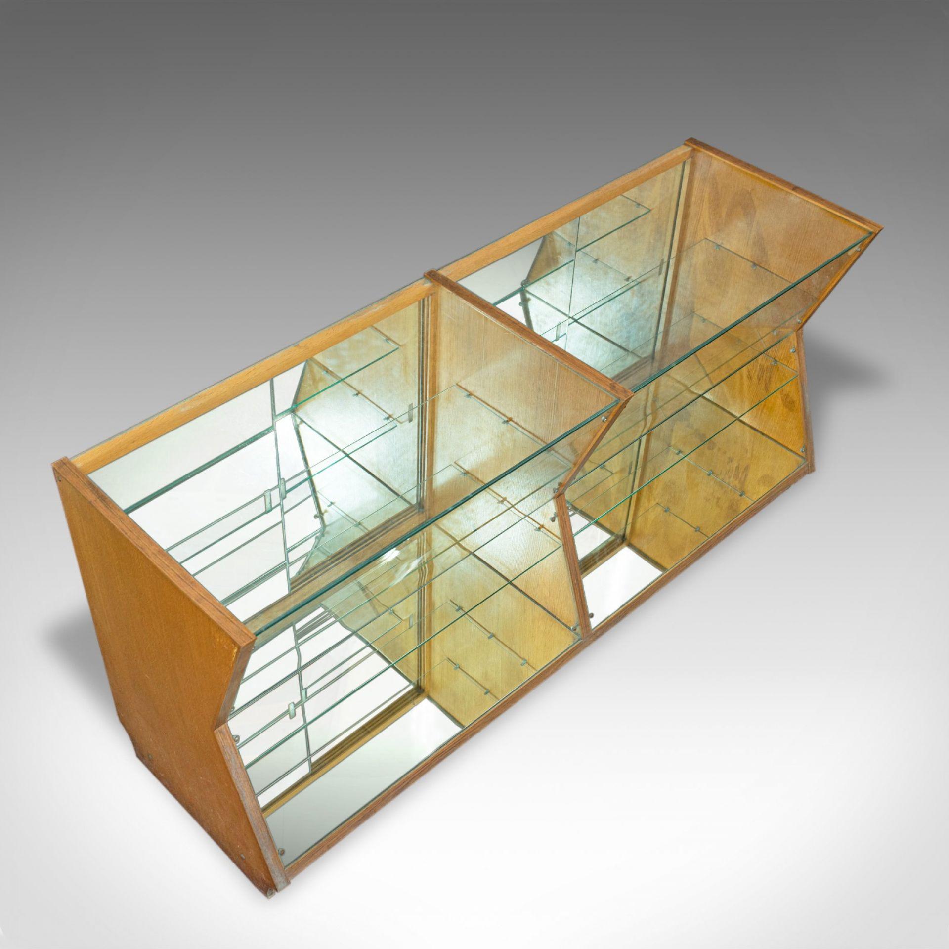 Large Vintage Display Cabinet, Glass, Oak, Retail, Shop-Fitting, Art Deco c.1930
