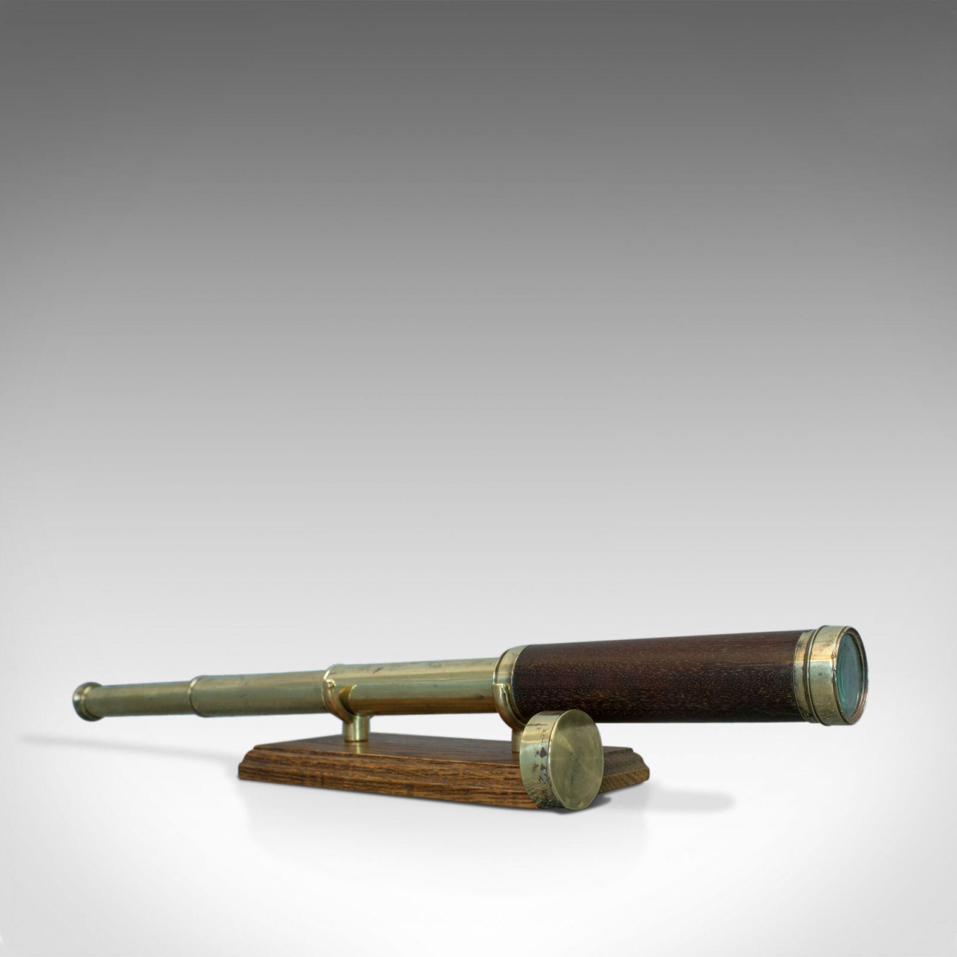 Antique Telescope, English, 3 Draw Refractor, Silberrad Aldgate, 19th Century