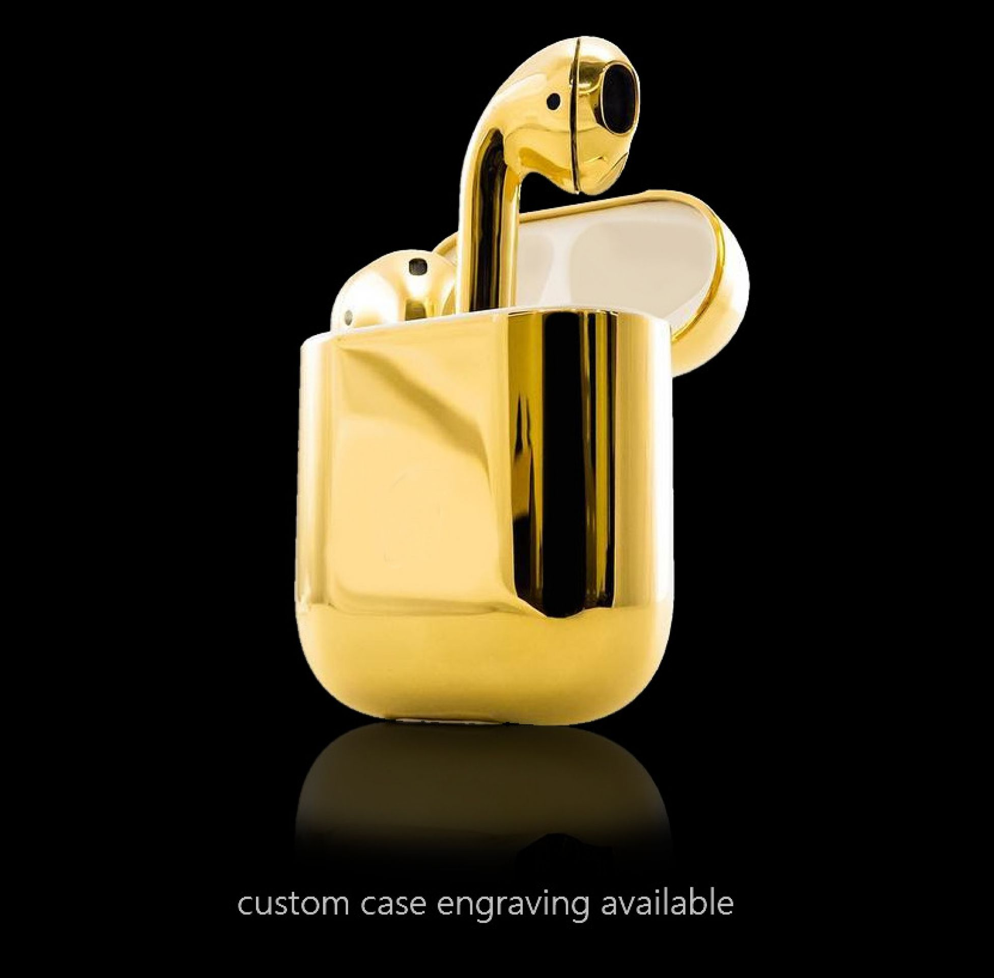 Airpods 24k gold plated & casted in silver  2. generation by Legend