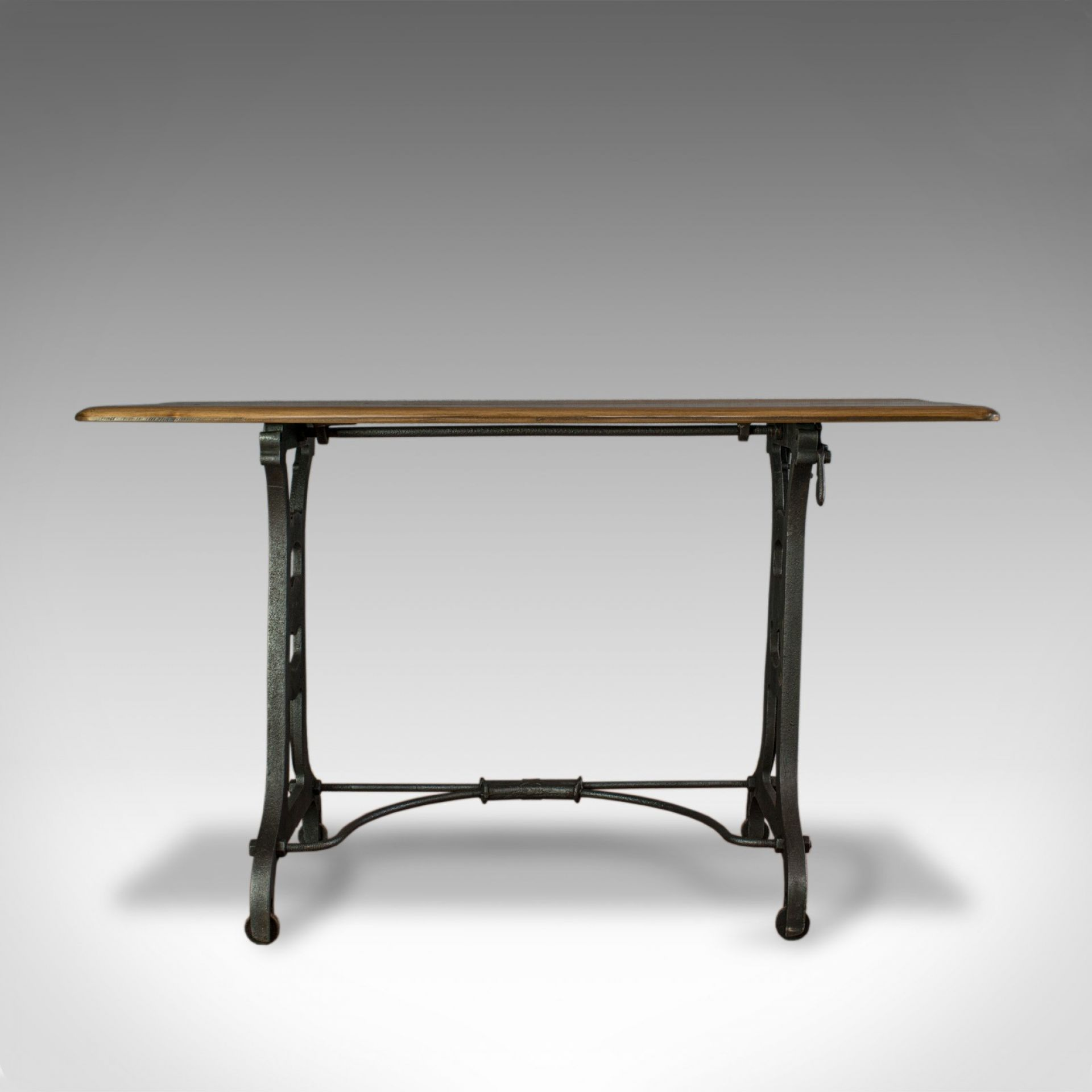 Antique Orangery Table, English, Industrial, Machinist, Victorian, Side C.1900