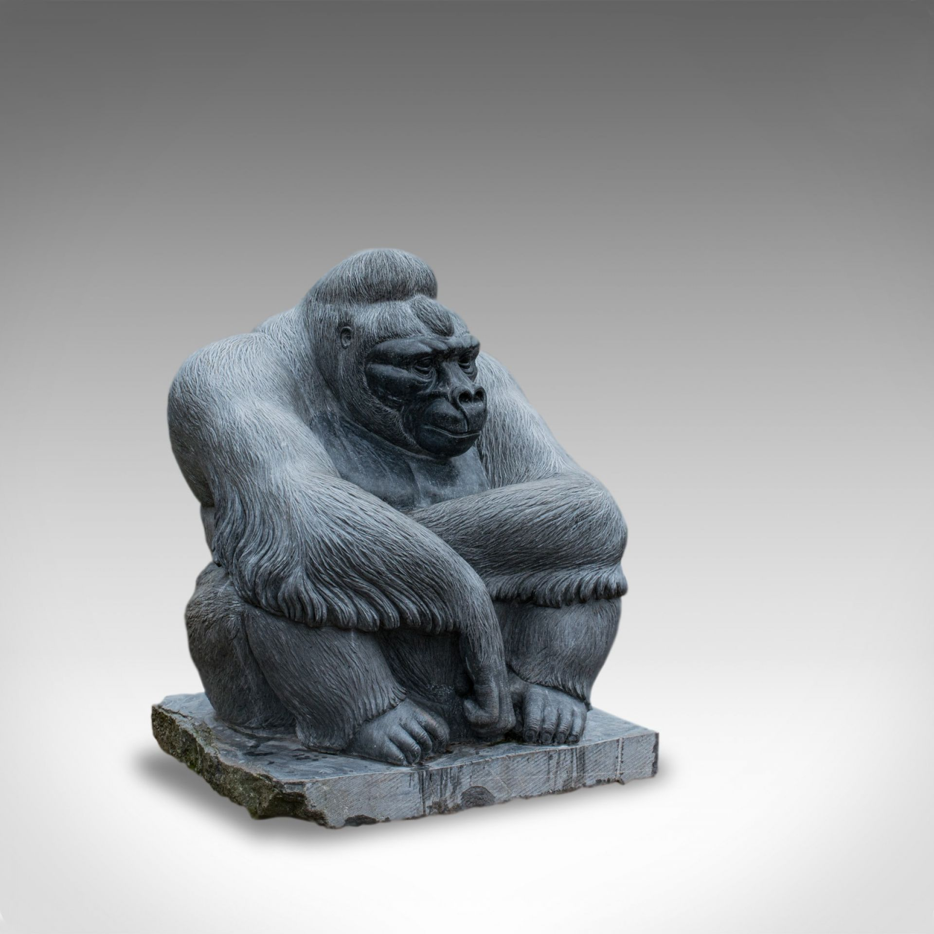 Large Sculptural Artwork Marble Statue Shabani Lowland Gorilla by Dominic Hurley