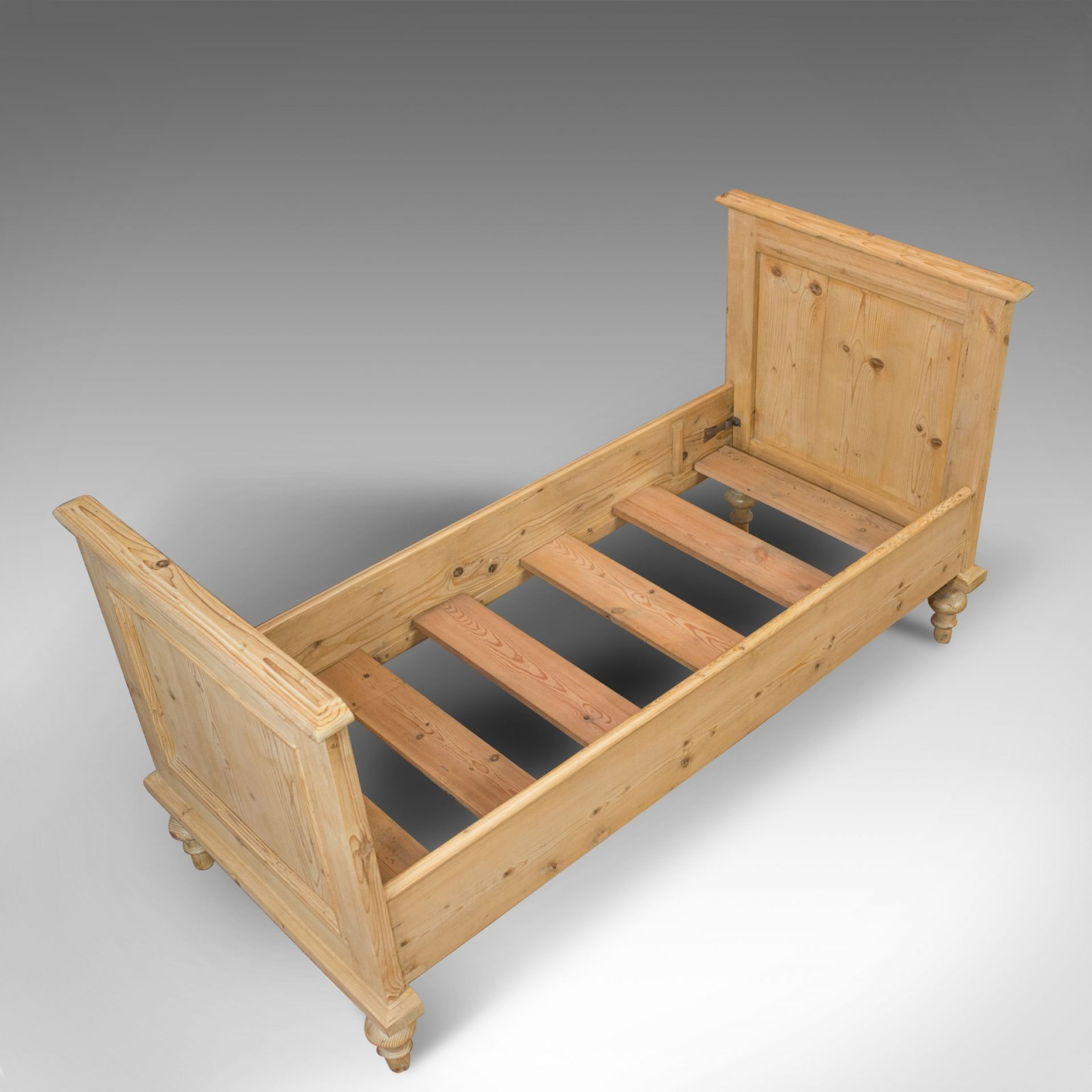 Antique Bed Frame, English, Victorian, Pine, Bedstead, Late 19th Century, C.1900