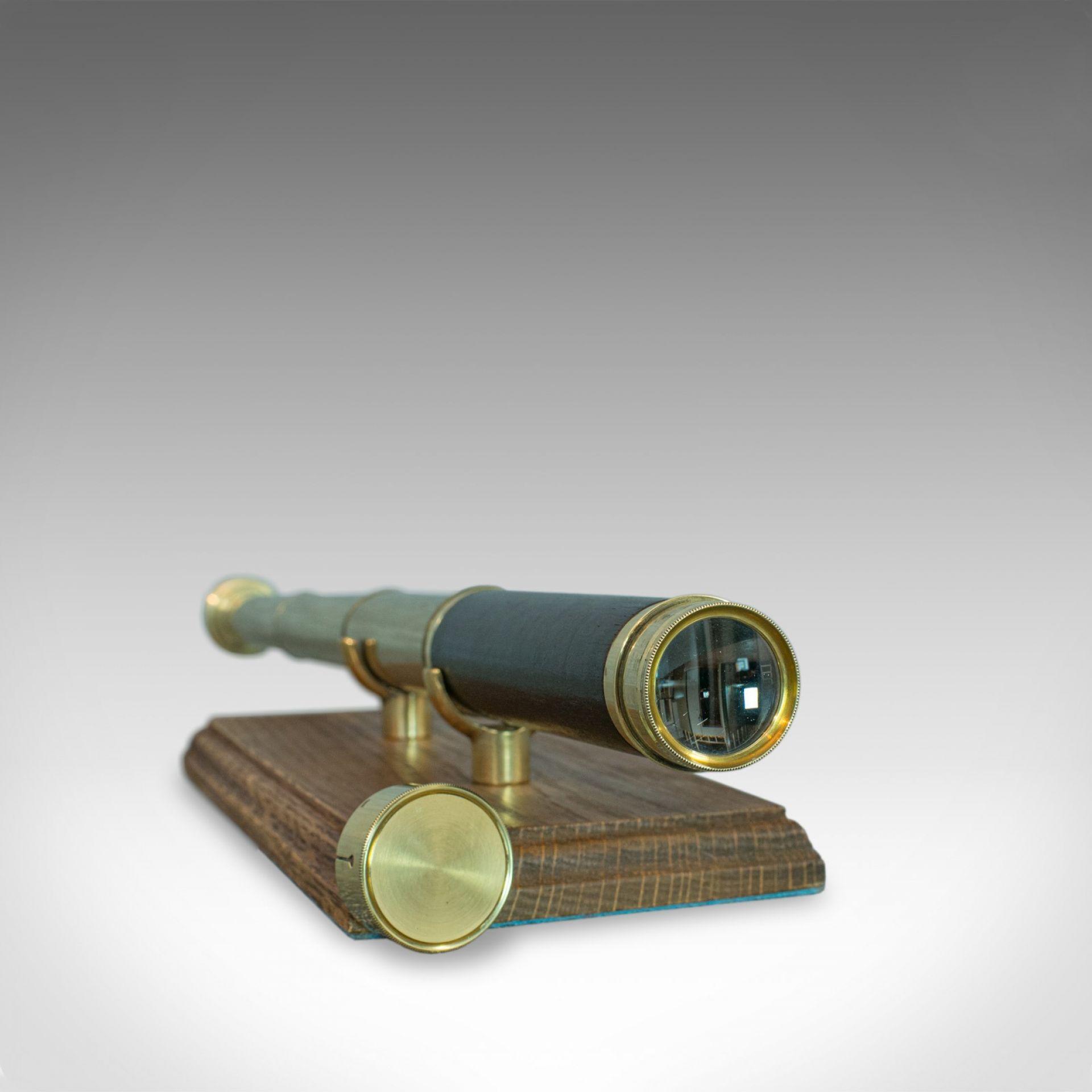 Antique Pocket Telescope, Three Draw, Refractor, English, Victorian, Circa 1870