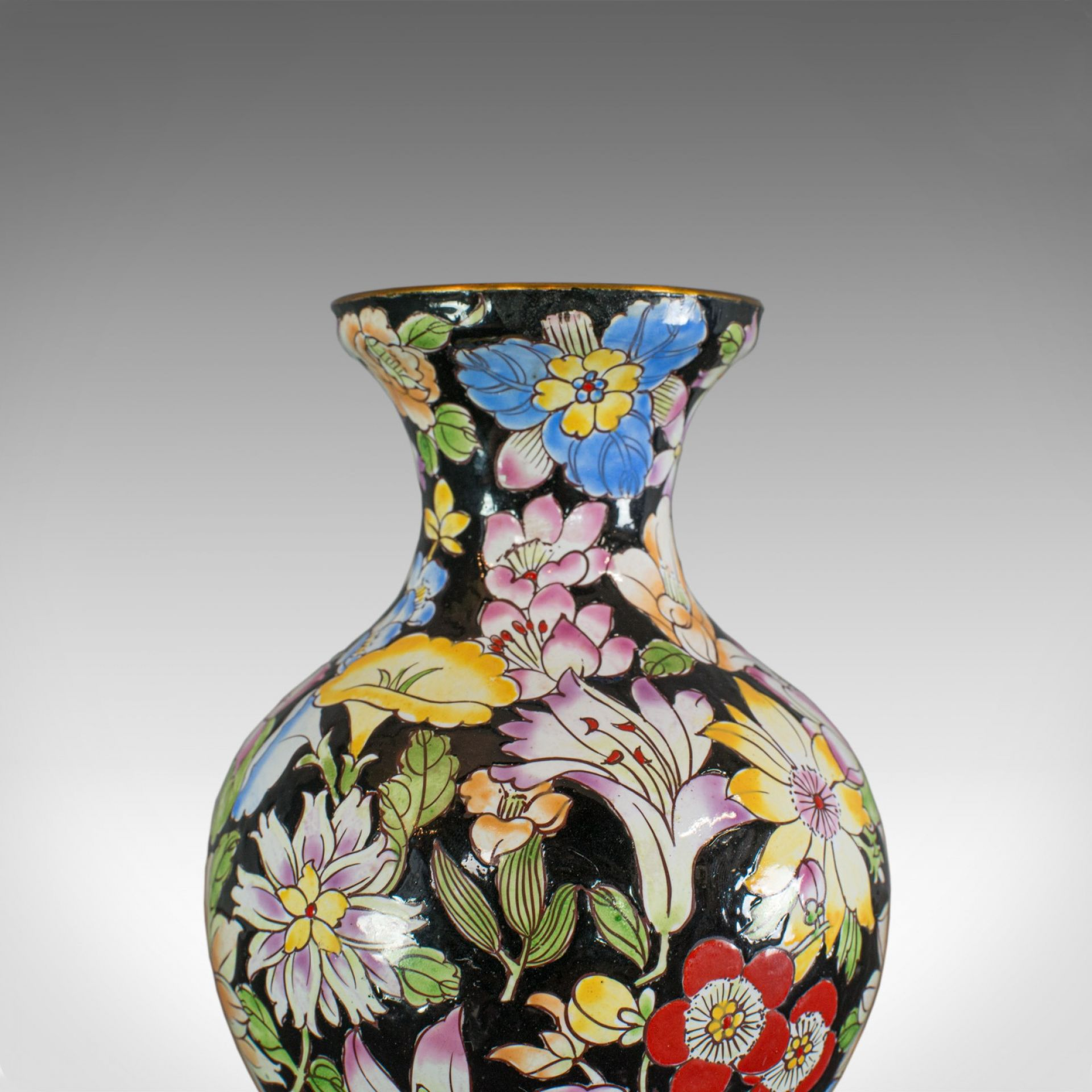 Antique Decorative Vase, French, Cloisonne, Baluster Urn, Victorian, Circa 1880