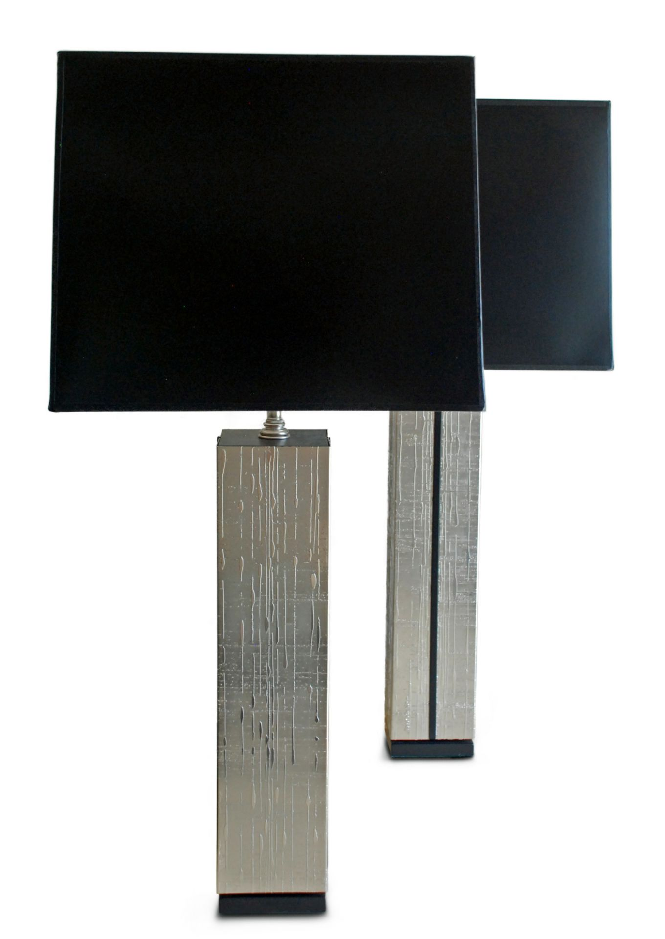 Rocio Noir, Etched Nickel Table Lamp
