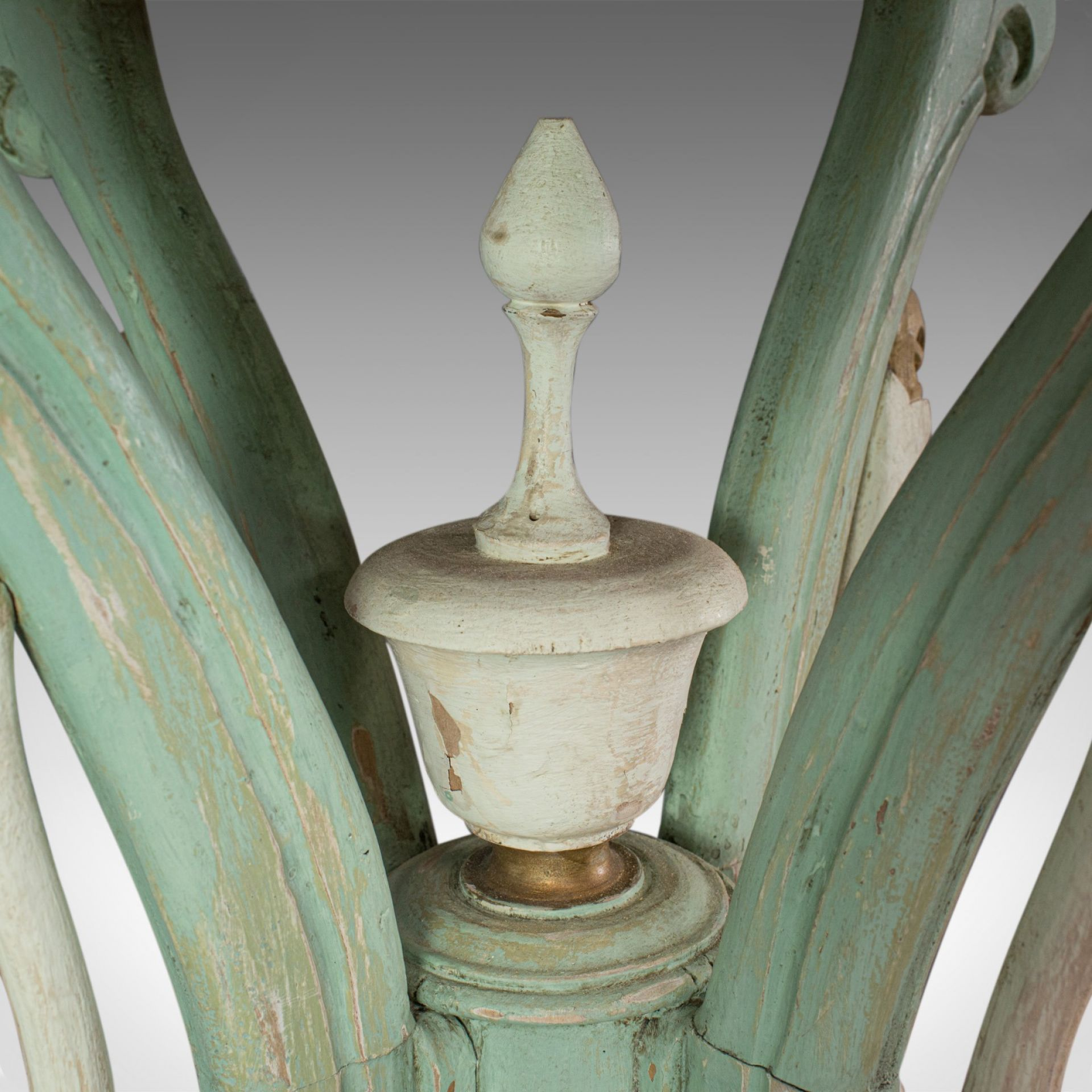 Antique Side Table, French, Painted, Pine, Cafe, Lamp, Occasional, Circa 1890