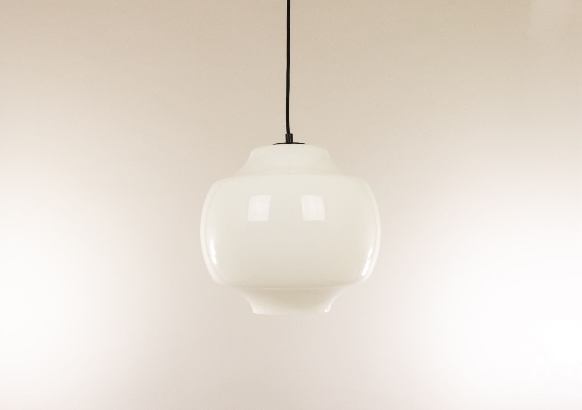 White glass pendant by Alessandro Pianon for Vistosi, 1960s