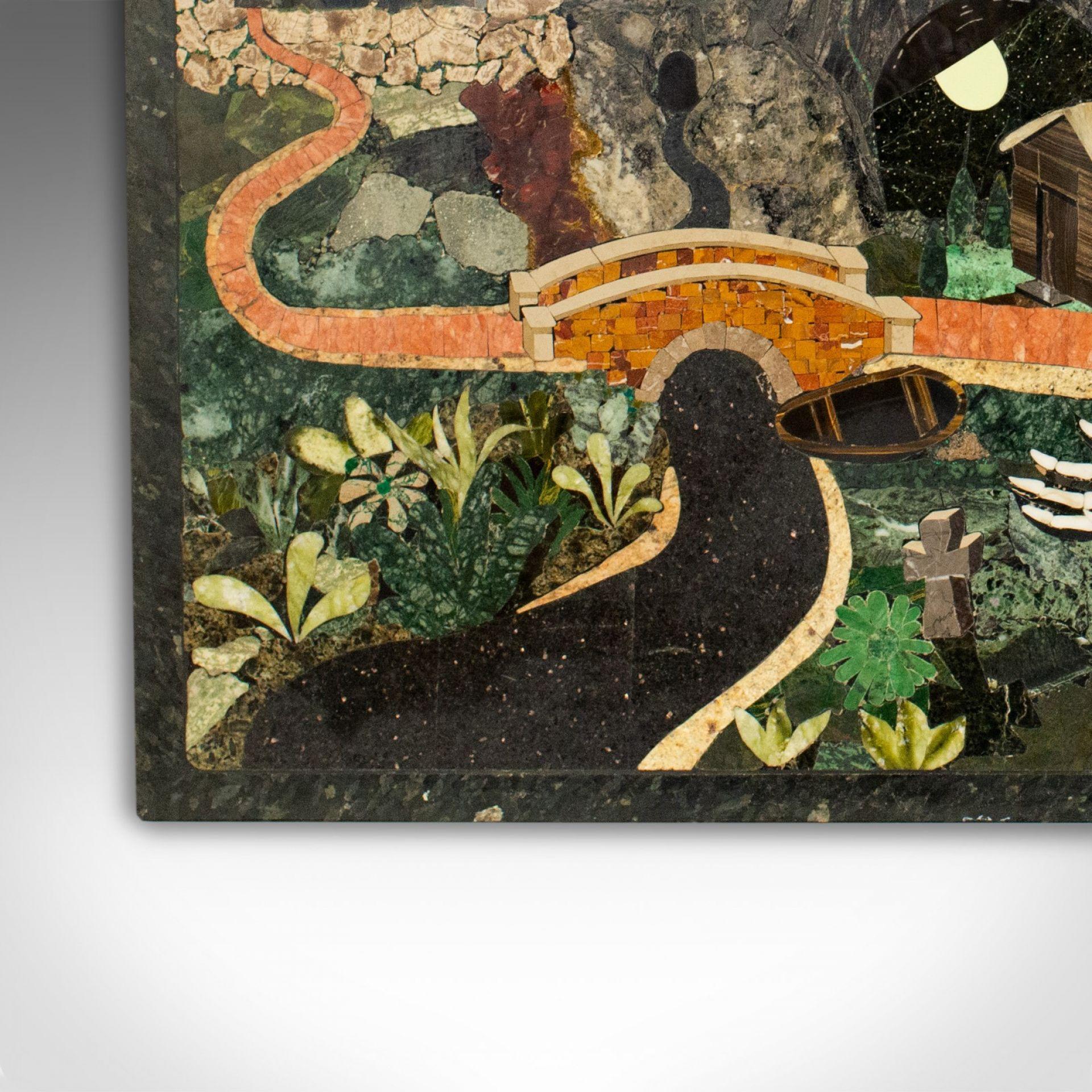 Mosaic, Pietra Dura, English, Tigers Eye, Lapis Lazuli, Marble, Stone