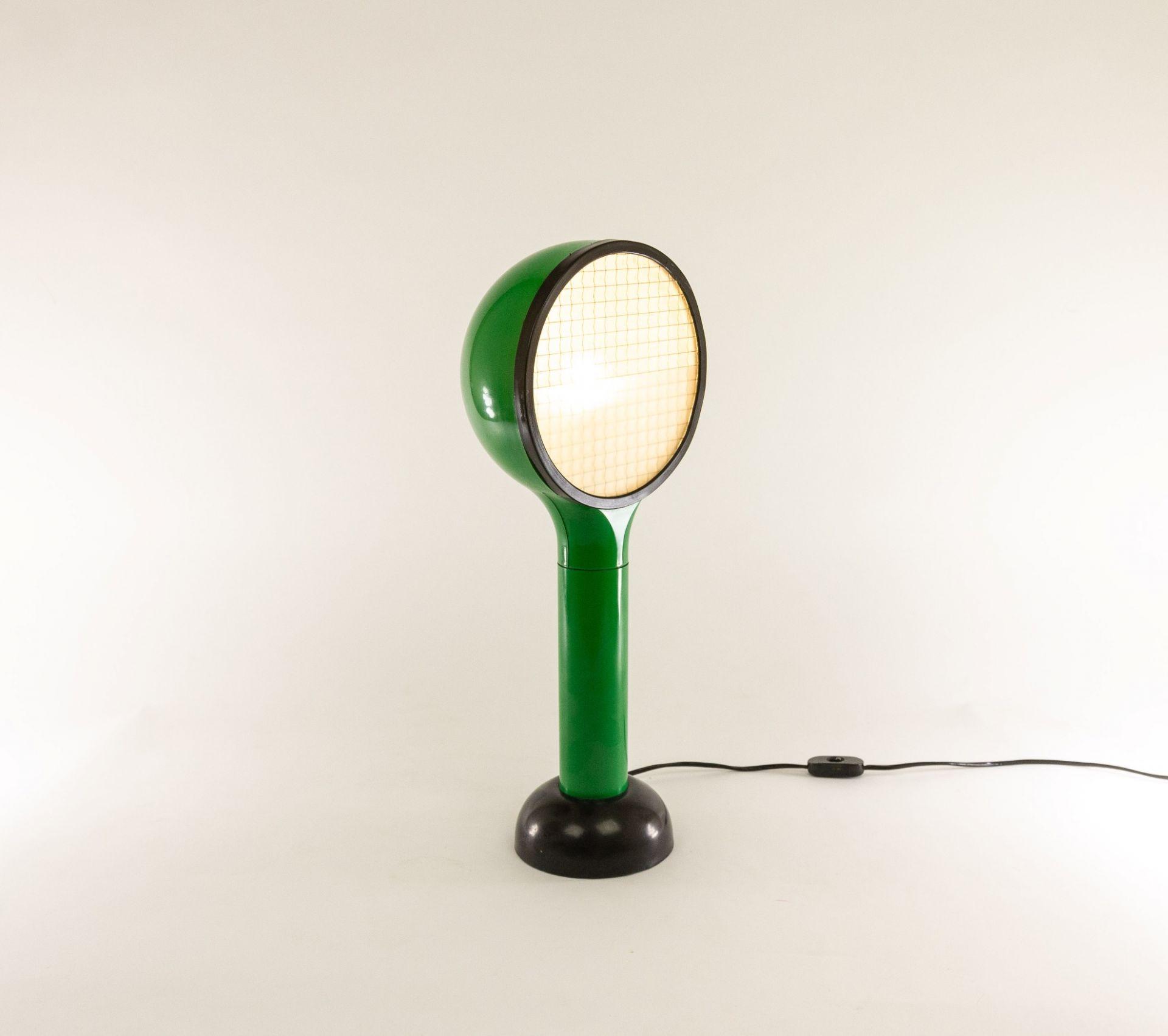 Green table lamp Drive by Adalberto Dal Lago & Adam Thiani for Francesconi, 1960