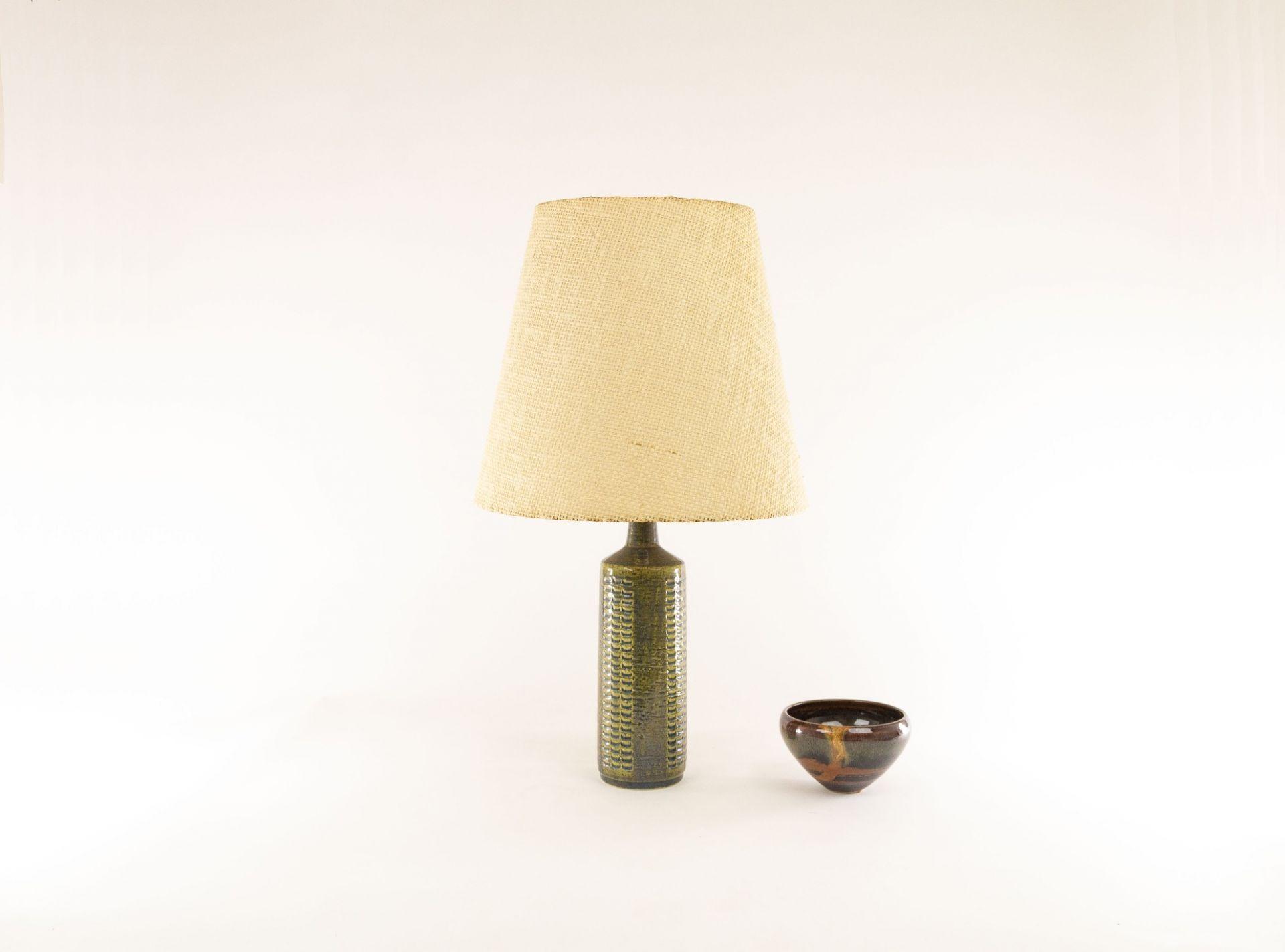 Green & silver blue table lamp model DL/27 by Per Linnemann-Schmidt for Palshus