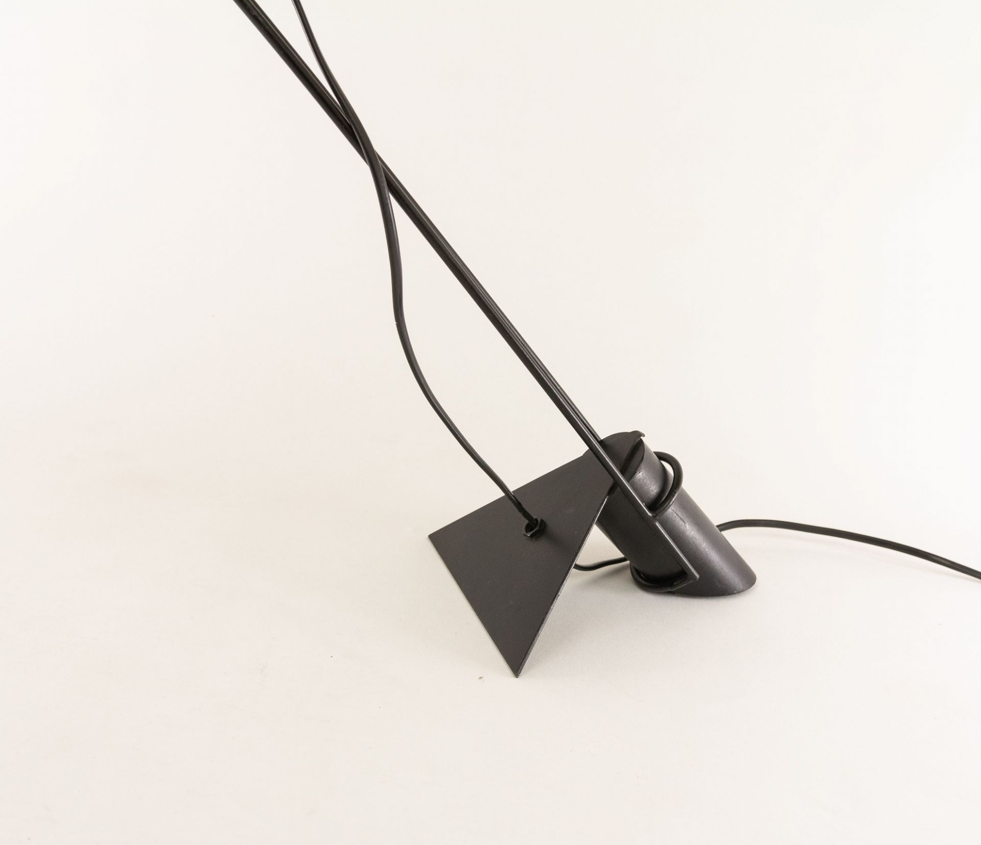 Adjustable black metal table lamp from Italy, 1970s