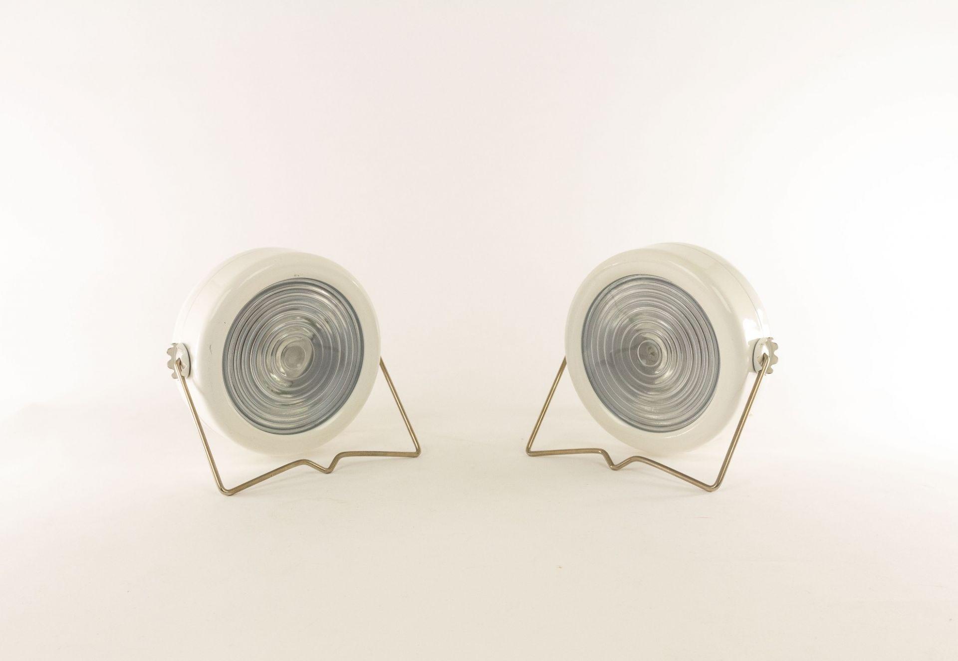A pair of Sciuko table lamps by Achille & Pier Giacomo Castiglioni for Flos, 196