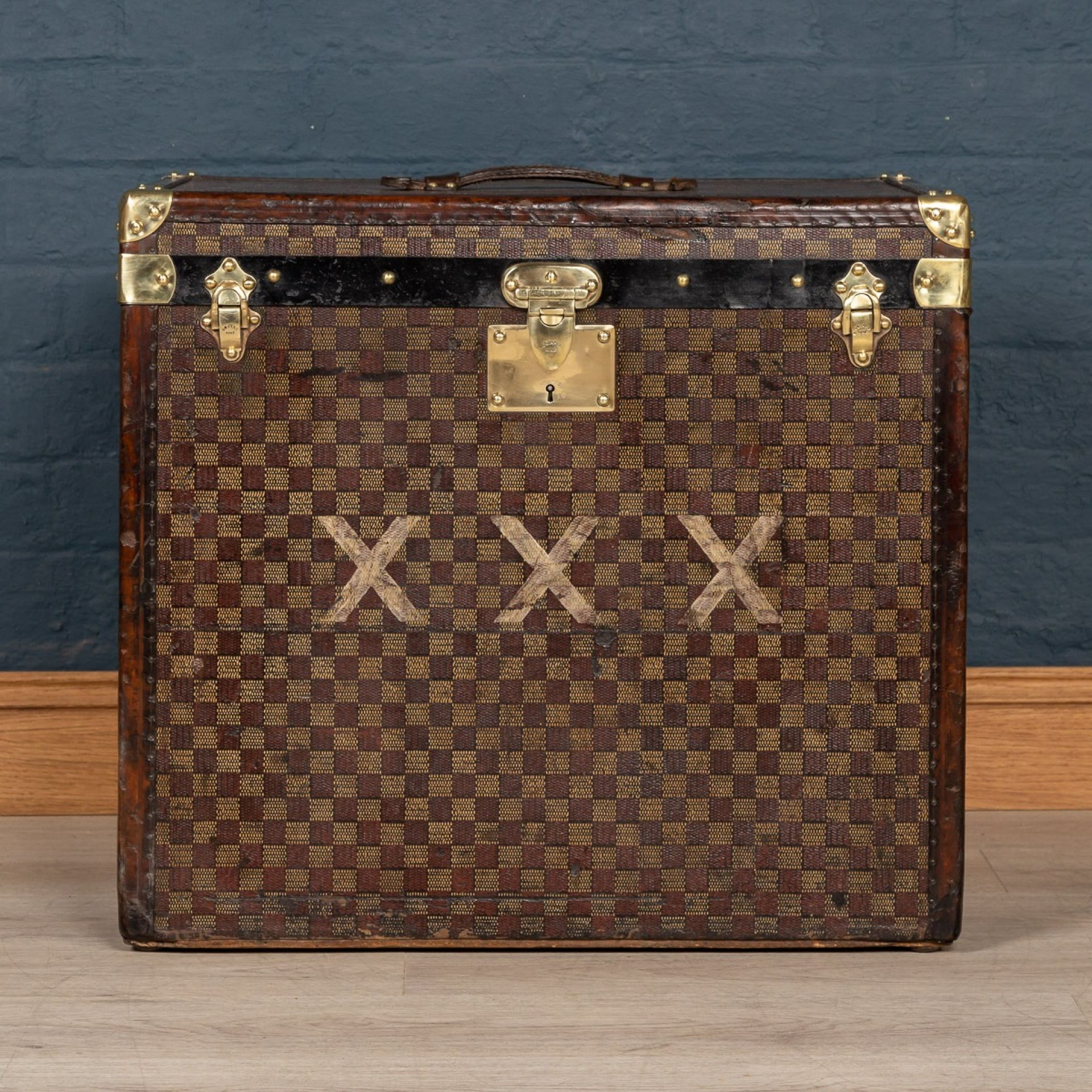 ANTIQUE 20thC GOYARD HAT TRUNK, FRANCE c.1900