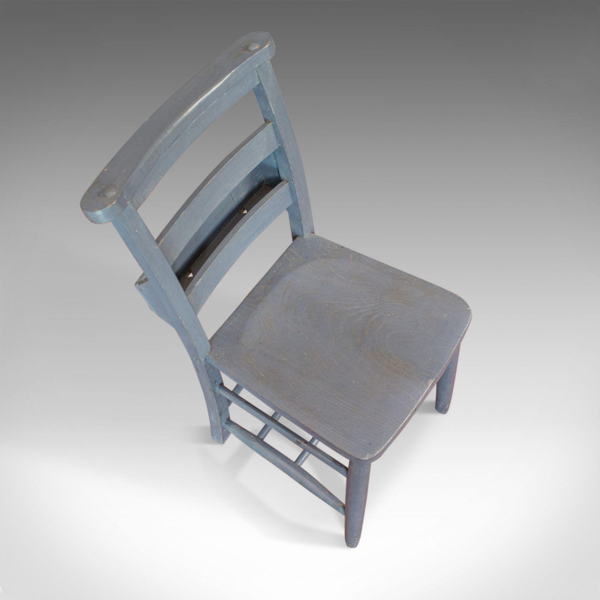 Antique School Chair, English, Victorian, Beech, Educational, Seat, Circa 1900