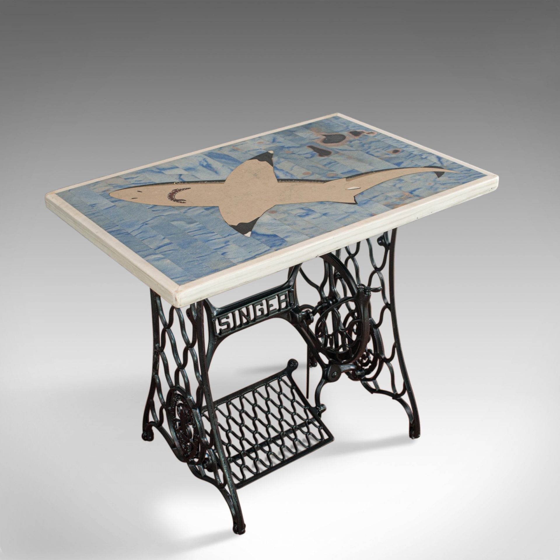 Scheiders Nightmare, Table, Shark, Singer, English, Pietra Dura, Dominic Hurley