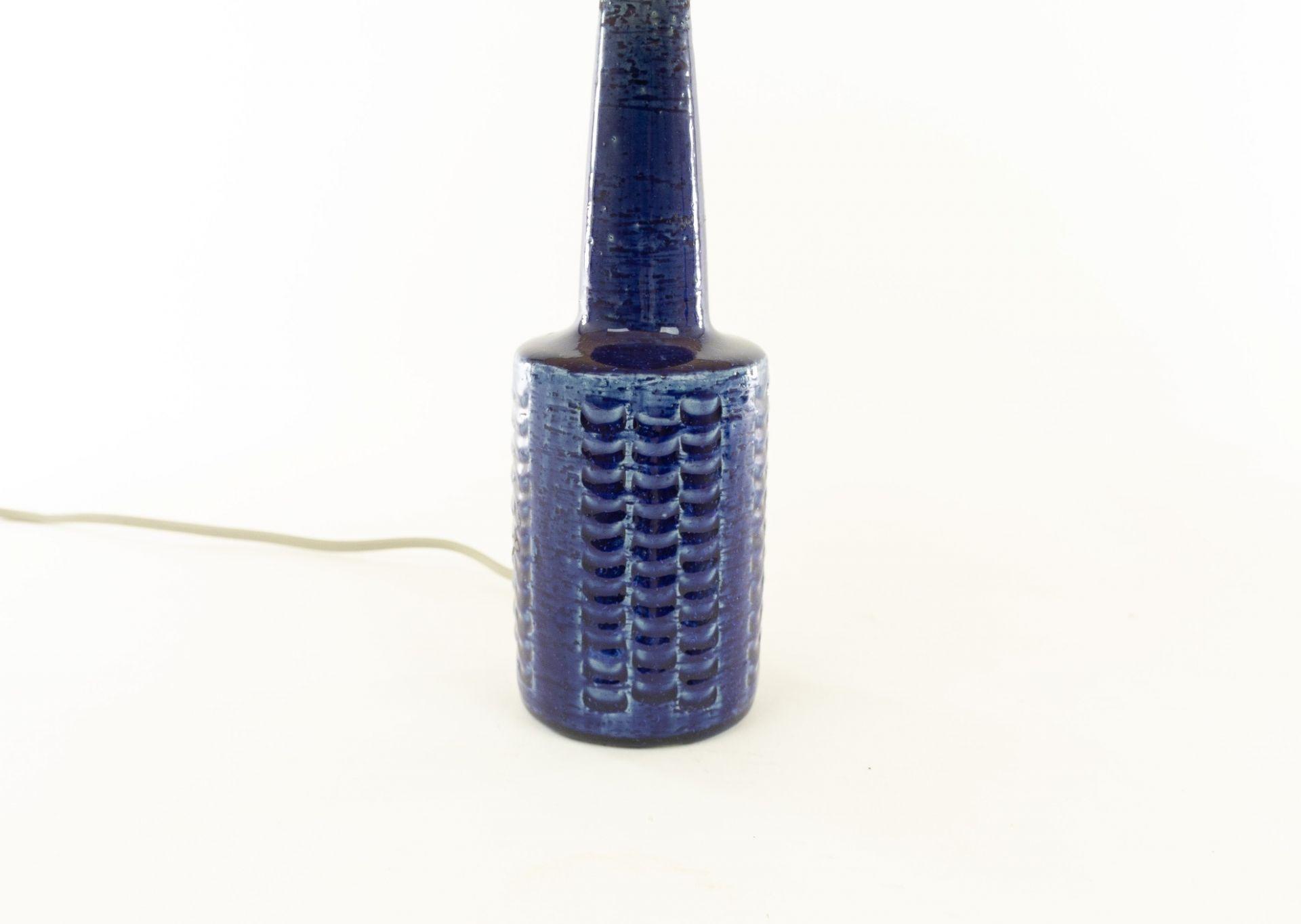 Pair of cobalt blue table lamps DL/21 by Per Linnemann-Schmidt for Palshus