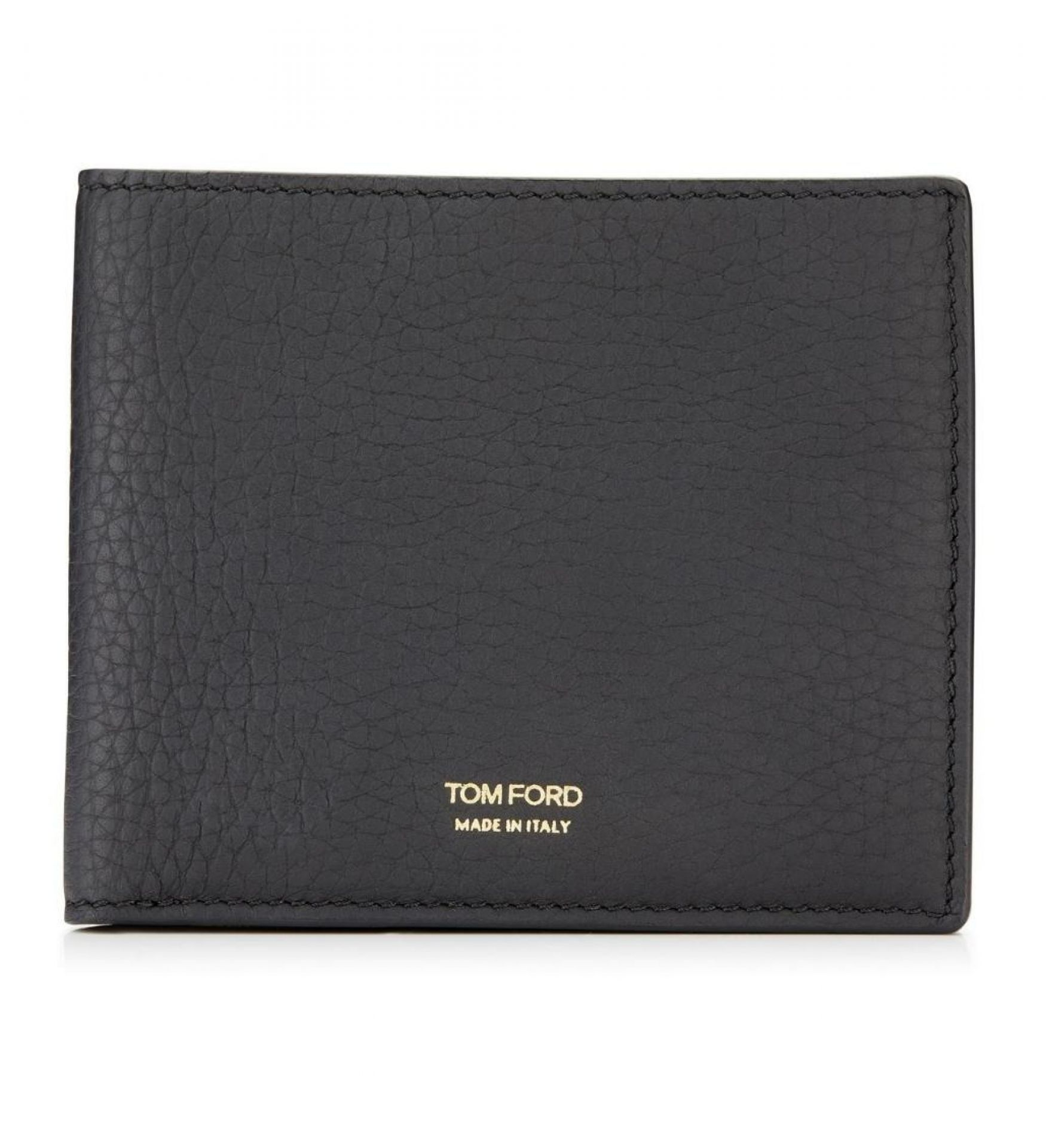 TOM FORD  T LINE GRAINED LEATHER BIFOLD WALLET