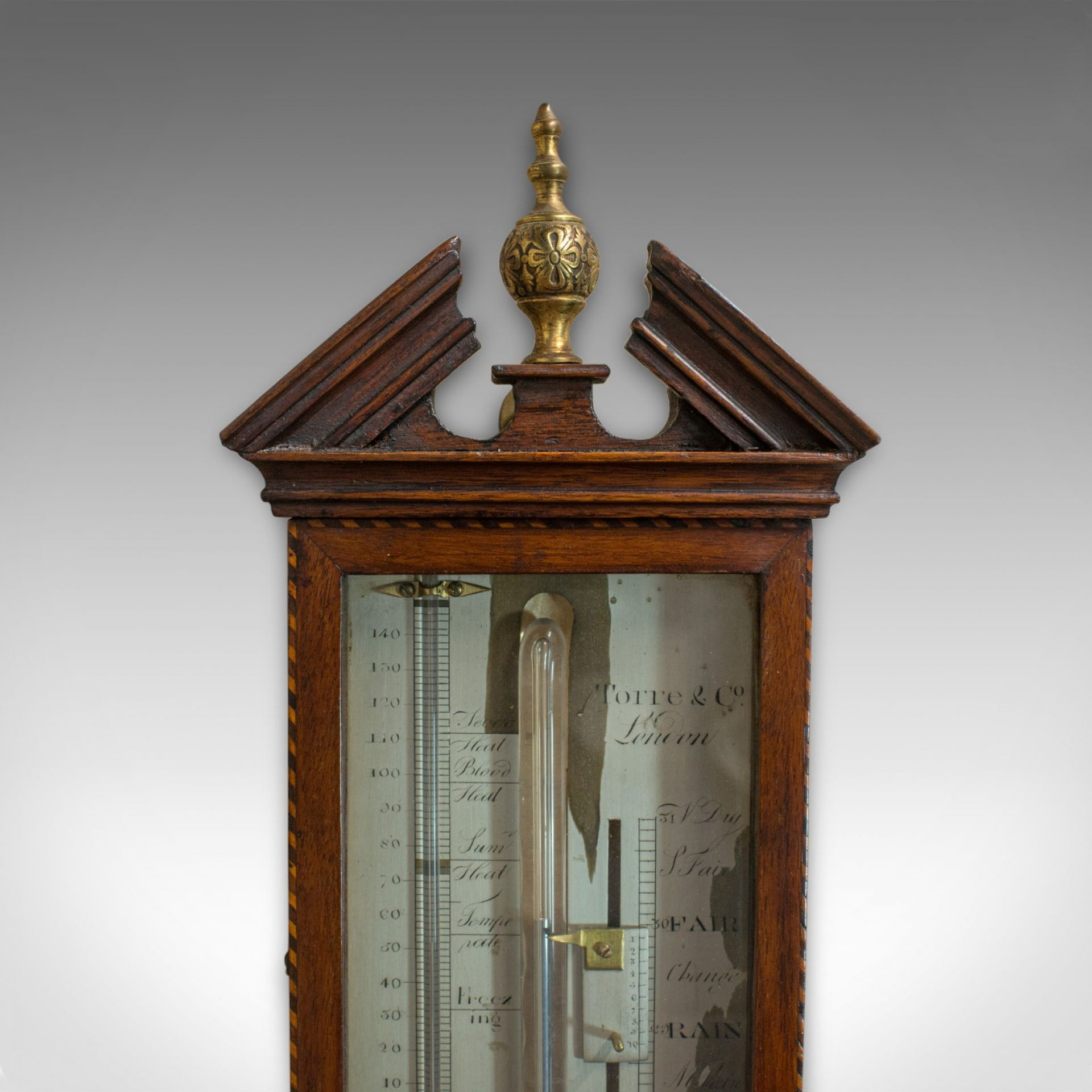 Antique Stick Barometer, English, Mahogany, Torre and Co, London, Circa 1850