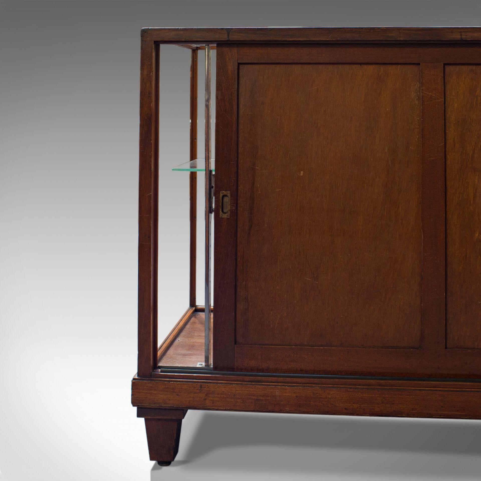 Antique Display Cabinet, English, Mahogany, Shopfitting, Showcase, Edwardian