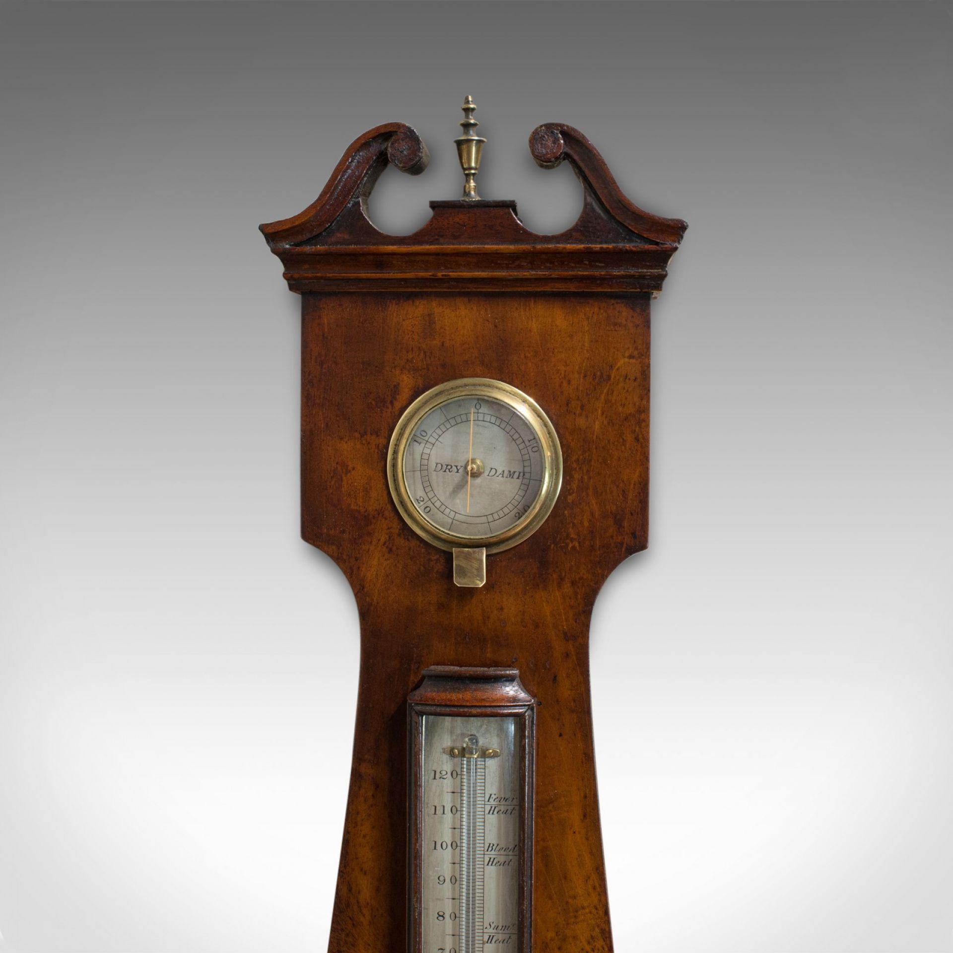 Antique Banjo Barometer, English, Mahogany, John Sowter, Oxford, Victorian